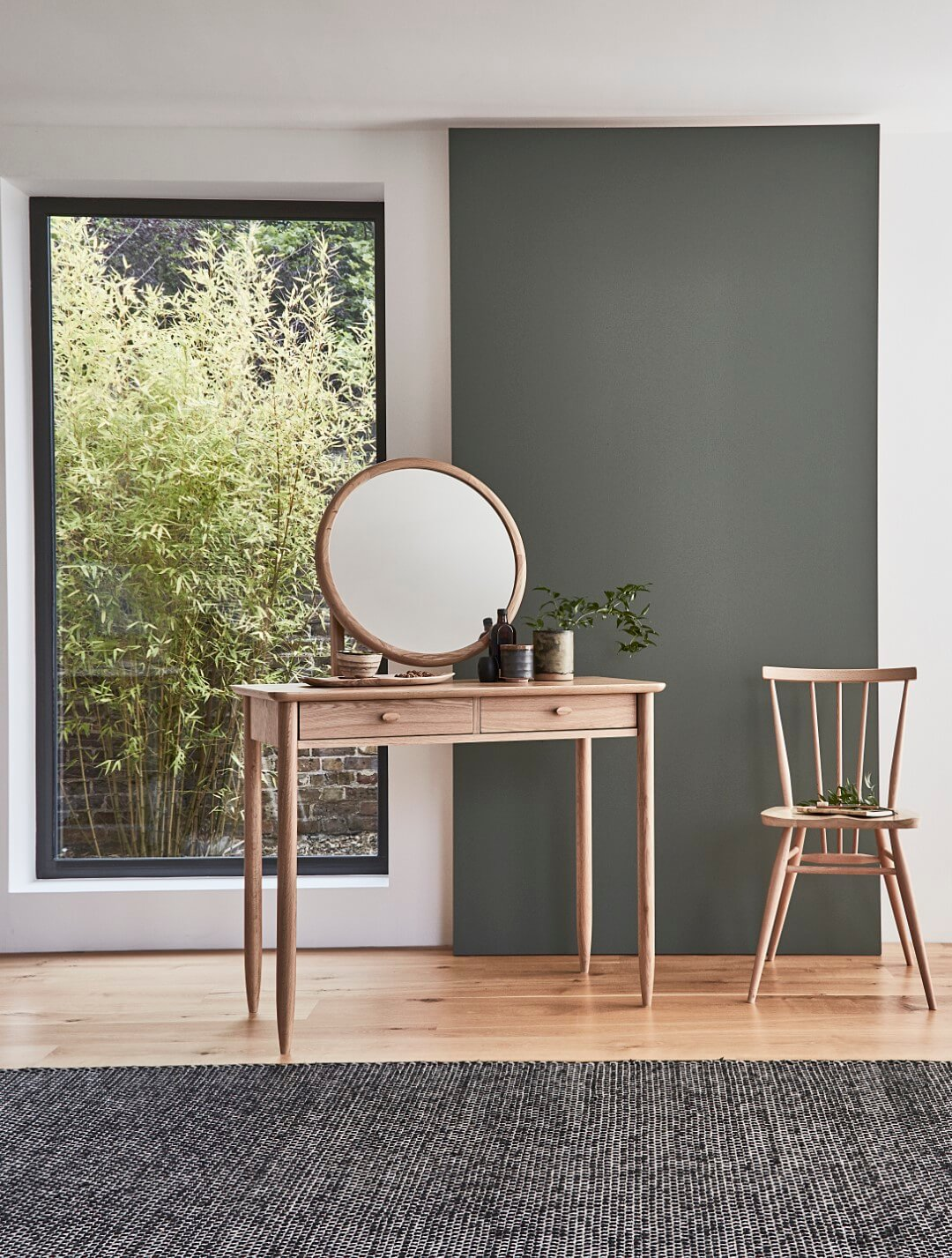 Ercol Teramo Dressing Table and All Purpose Dining Chair