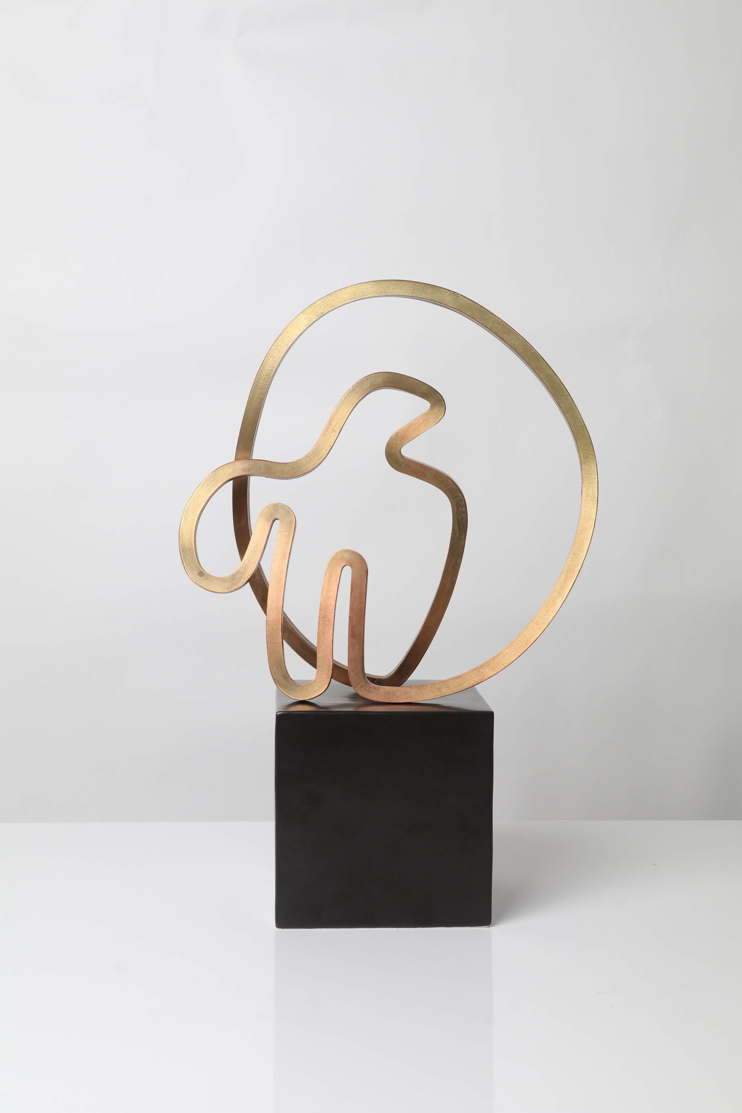 Gidon Bing 'Aegean Bird' Brass Sculpture on Ceramic Plinth