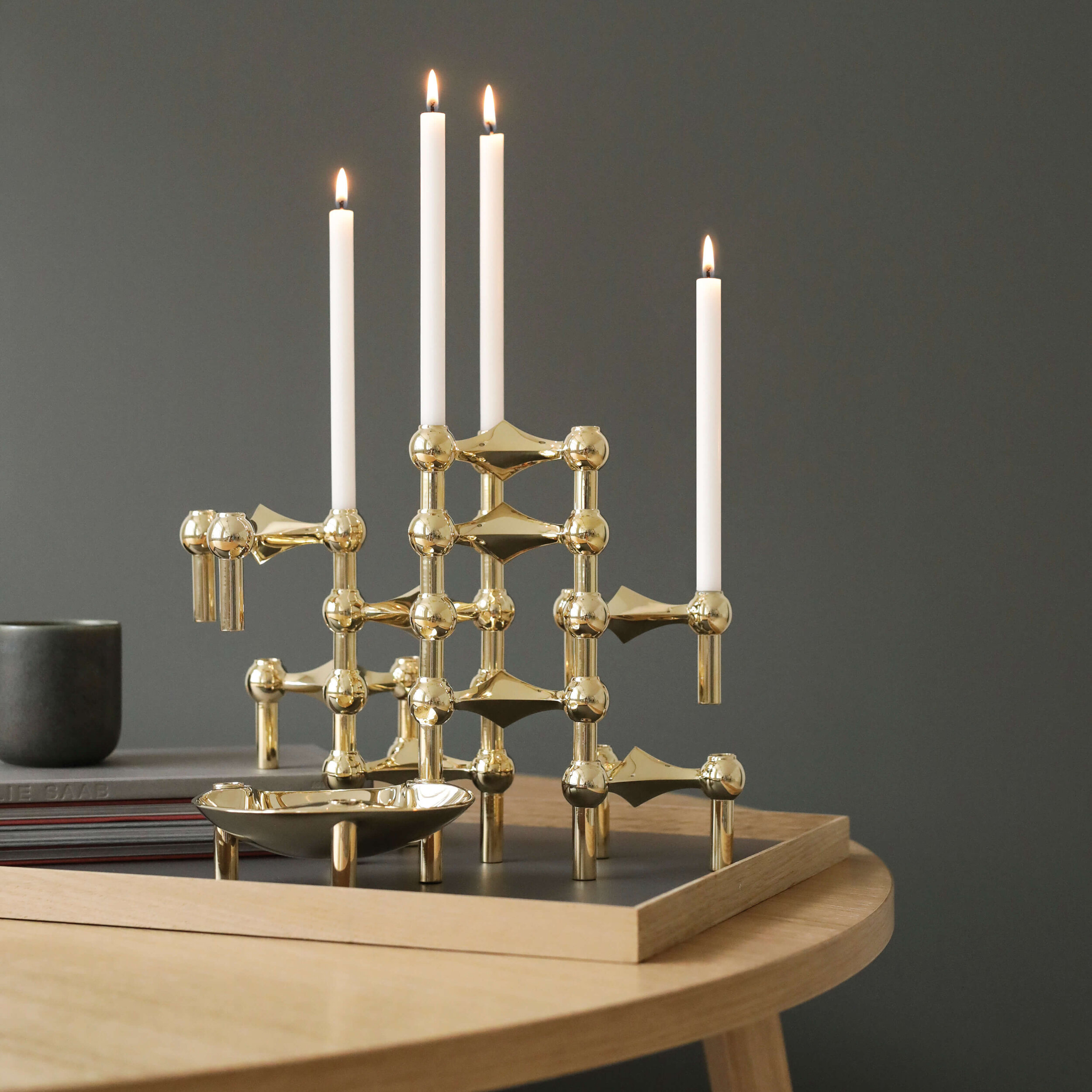 Treat your guests to an element of ambient candle light from Stoff Copenhagen modular sets