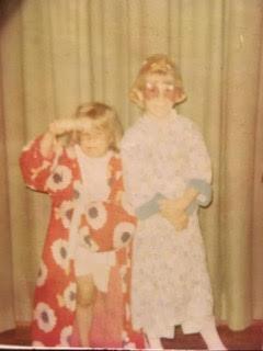 Julie and her big sister, Liz, 1972