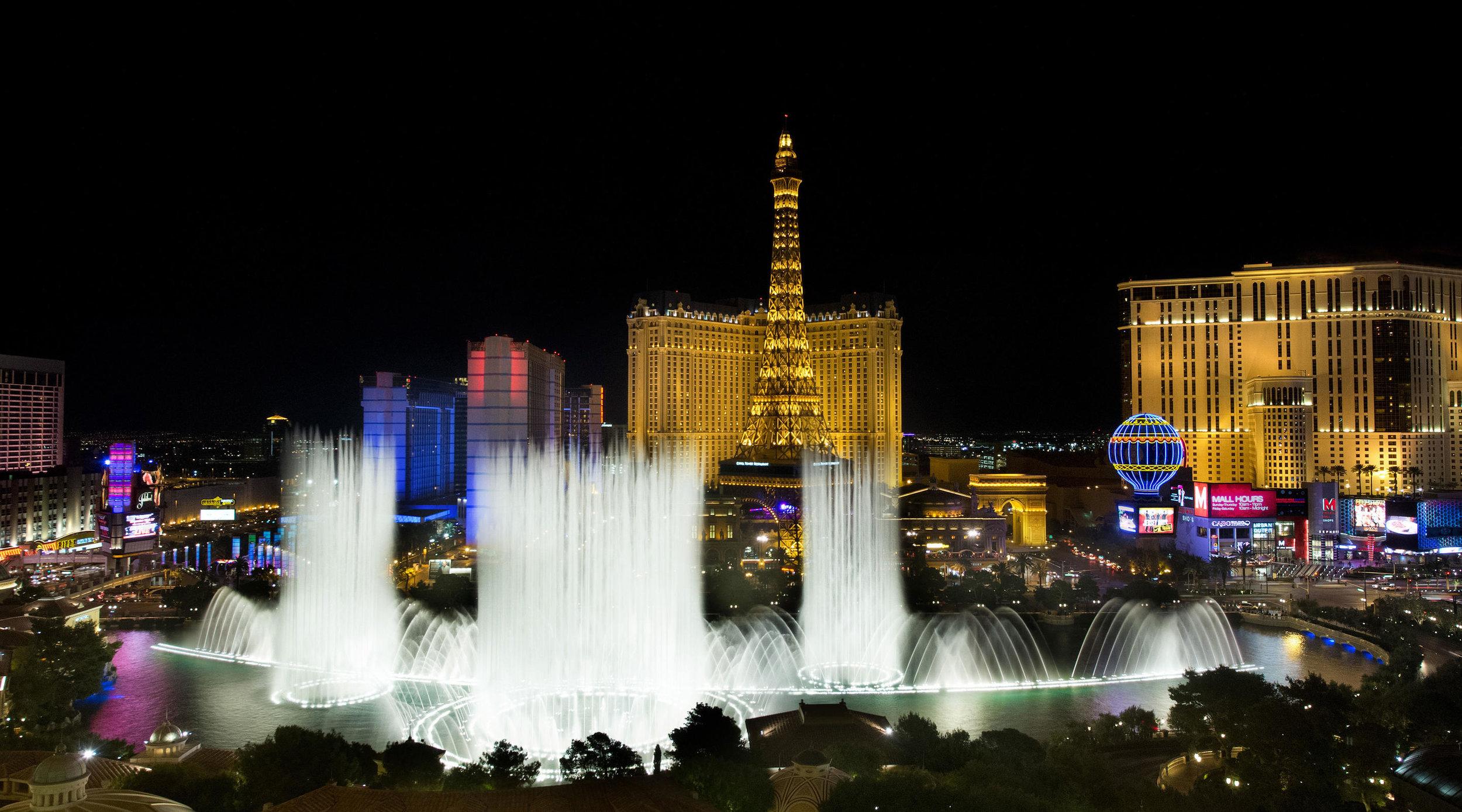 The Bellagio Fountains show