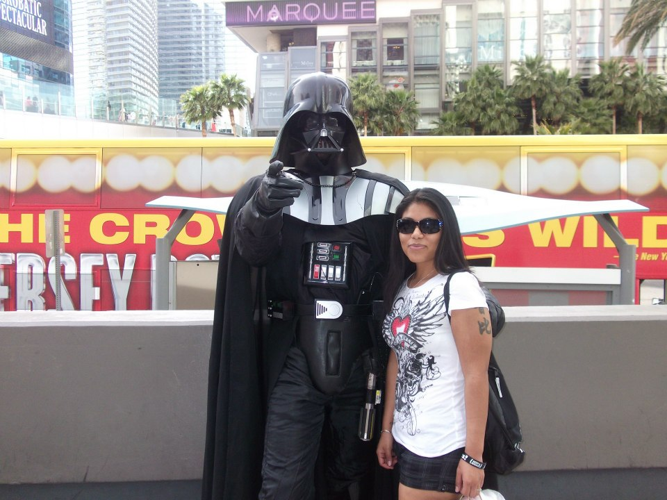 Walking around the The Strip...Is he my father?
