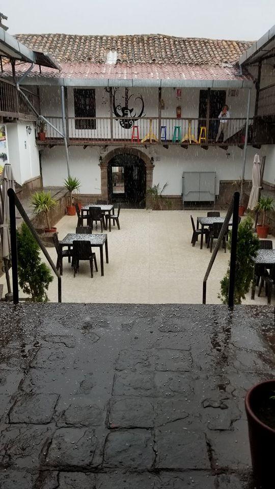 Hail Storm at Magic Packer Hostel, Cusco