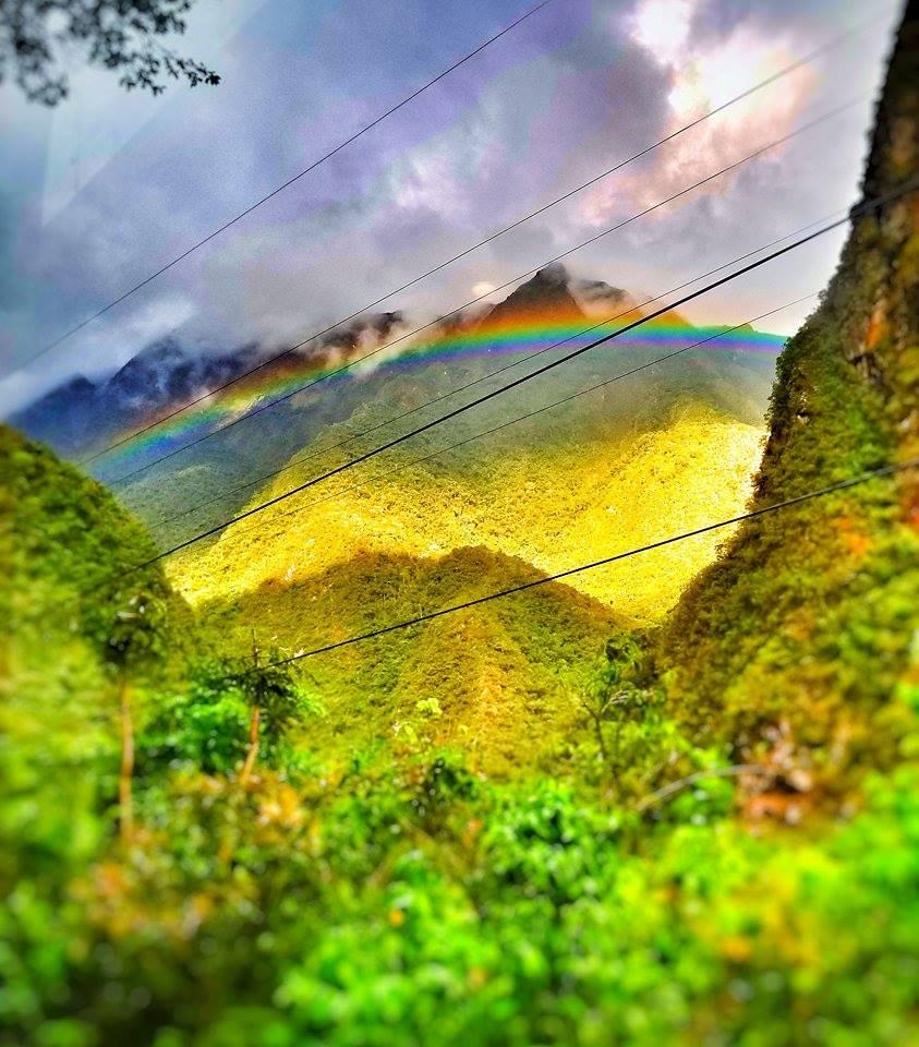 Rainbow seen from Peru Rail Train