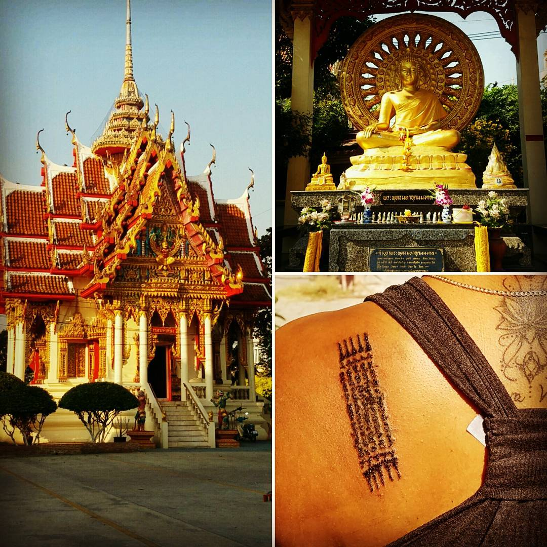 Scant tattoo by a monk at Wat Bang Phra