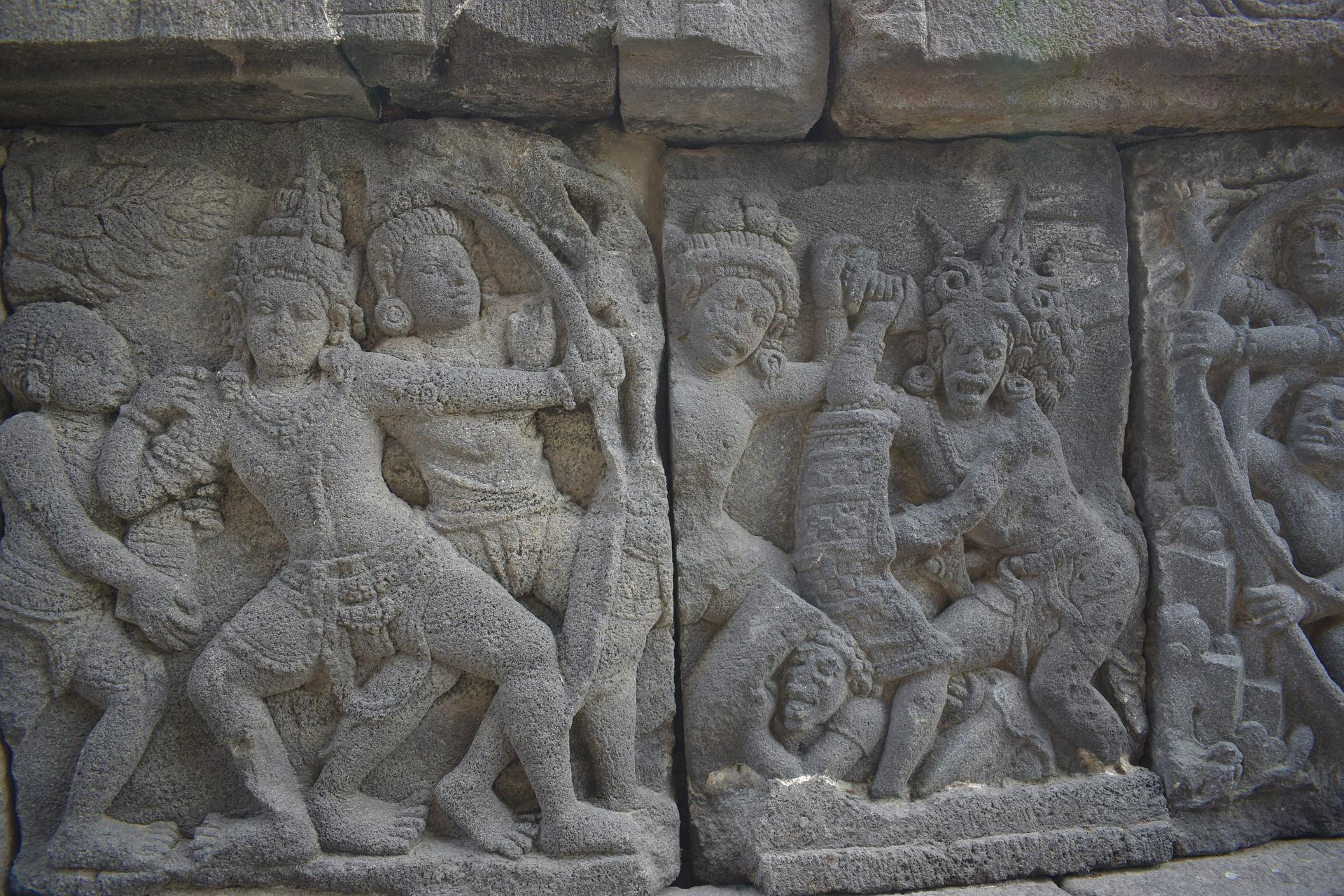 Carvings in Prambanan