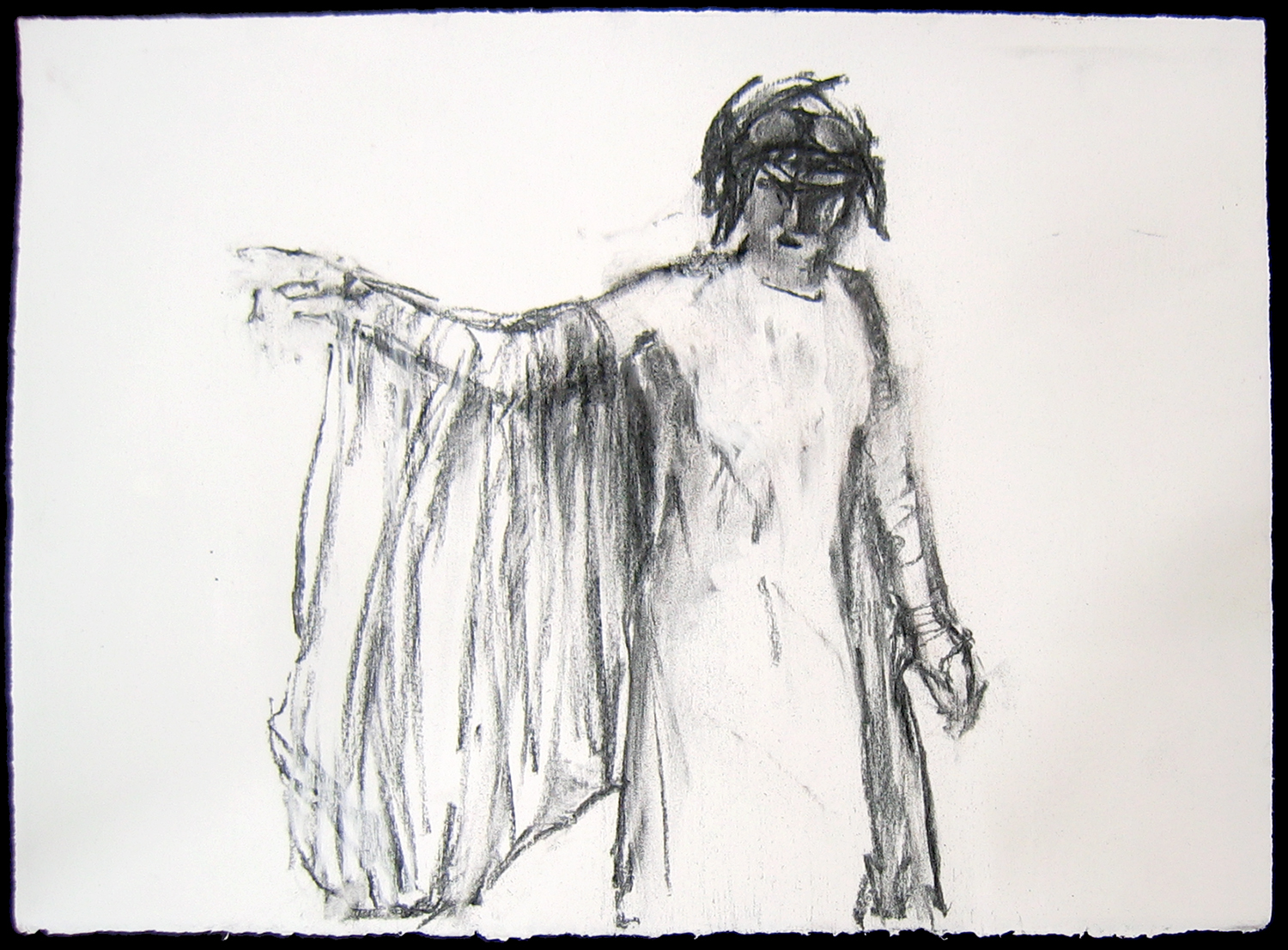 Sophia , 2006, charcoal on paper, 11 x 15 in.