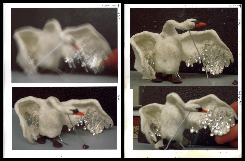 Oil-clay swan,  2008, Epson print, ea. 11 x 8.5 in.