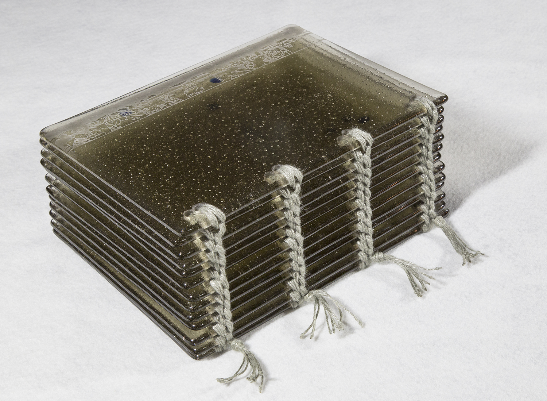 glass artist's book, glass artist book, strength of quiet persistence, Berlin Jewish community