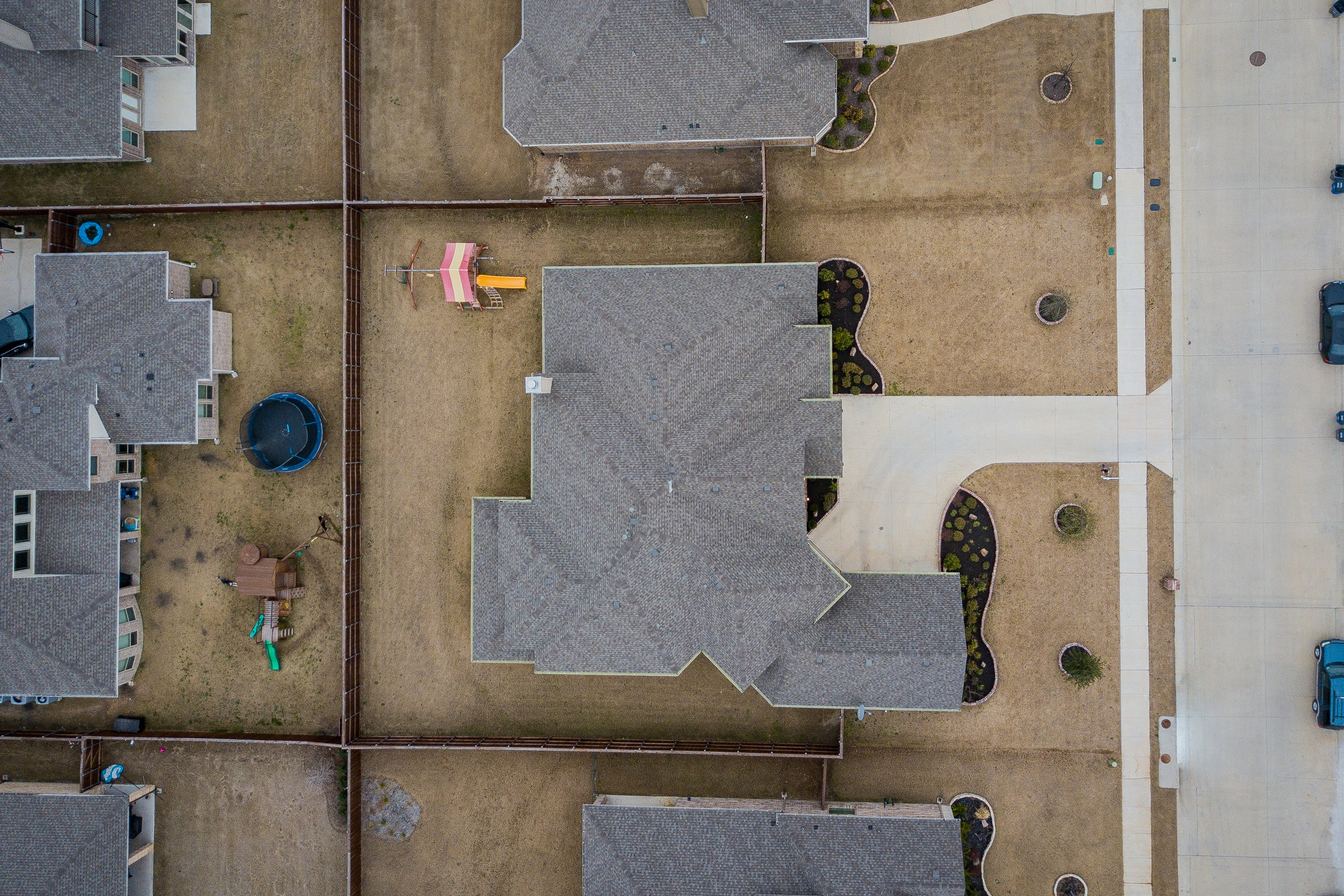 Aerial only$150 - A view from above showing acreage, and amenities.