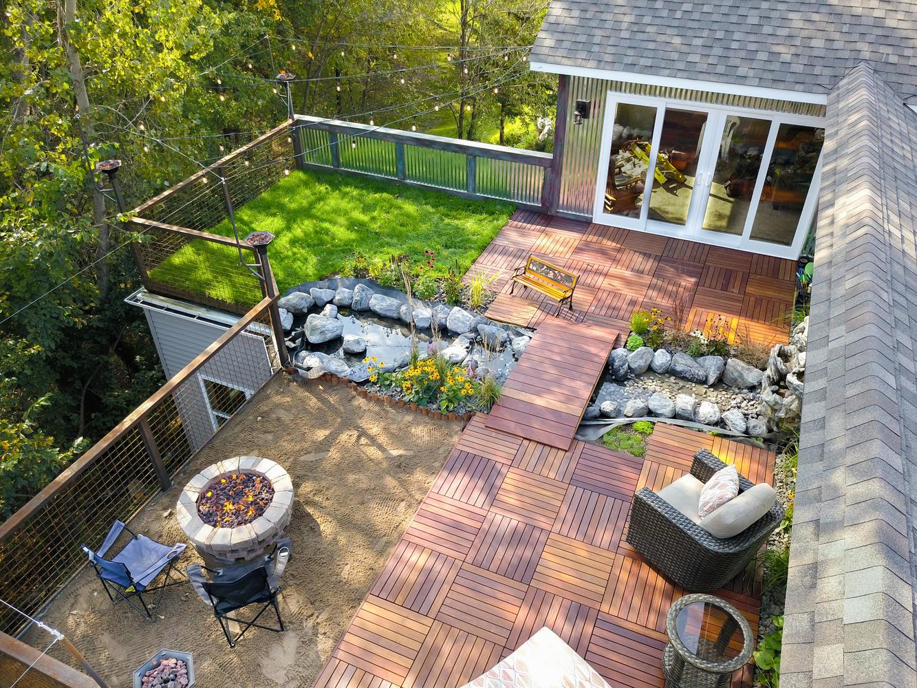 completely custom - rooftop garden