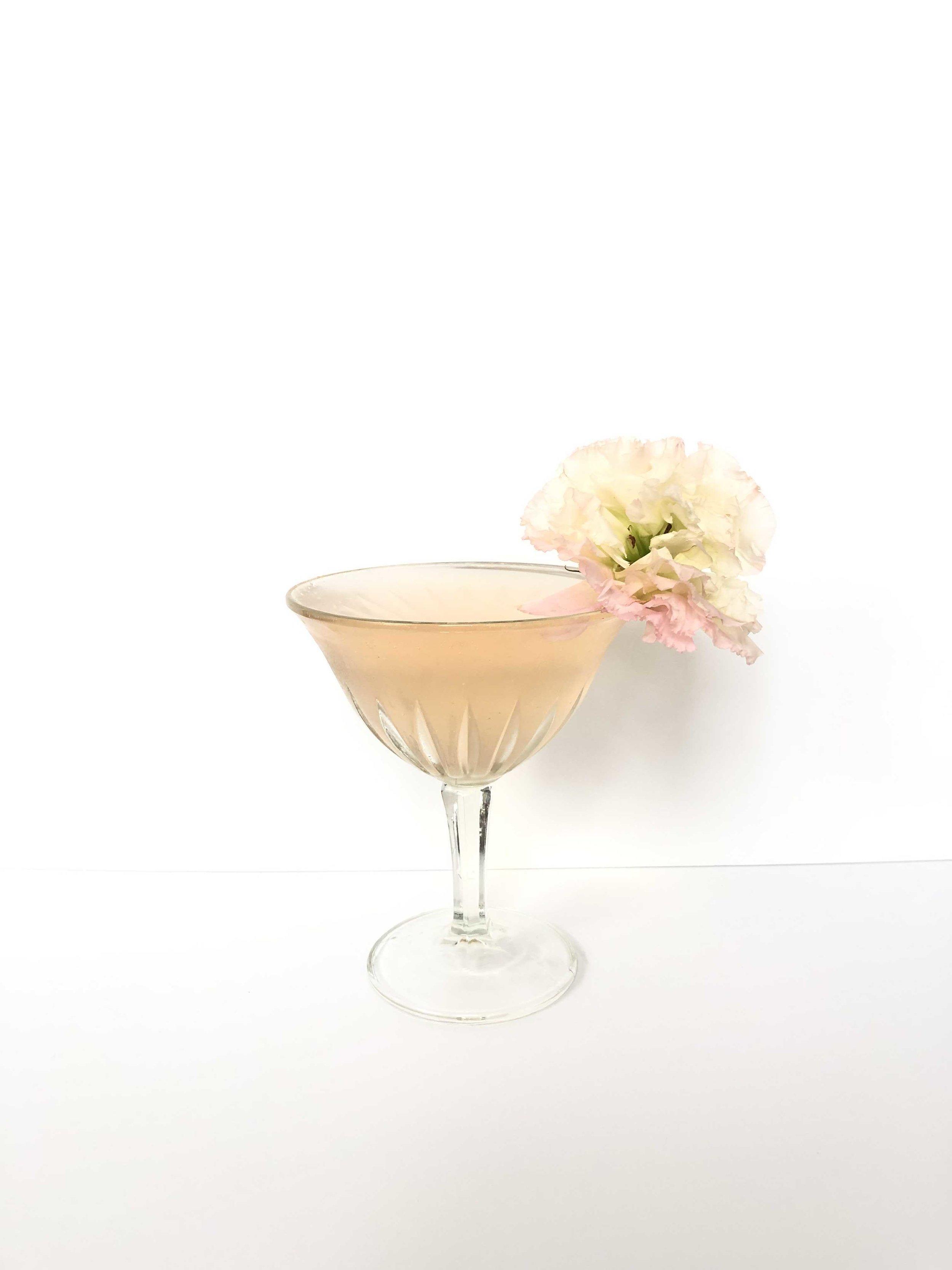 Cucumber Rose - 2 oz Kettle One Botanical Cucumber Mint Vodka1/2 oz lemon juiceSplash of rose waterTop with Topo Chico