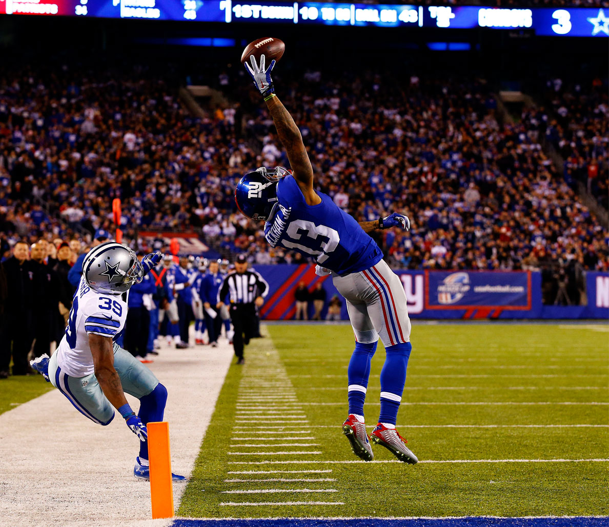Pictured:  Odell Beckham Jr. (New York Giants WR),  Photo:  GETTY IMAGES