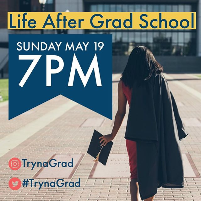 Our much anticipated twitter & IG chat is tonight! Are you tuning in? #trynagrad