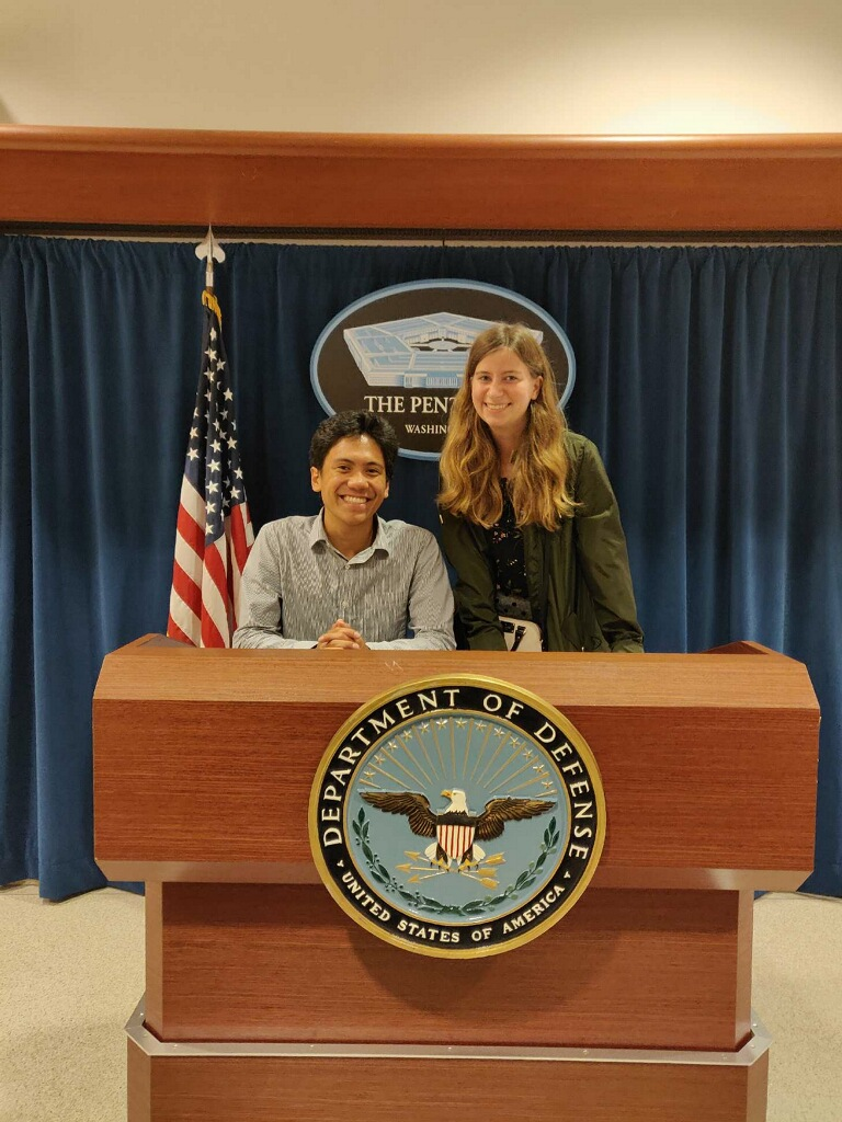 A friend and I at the Pentagon!