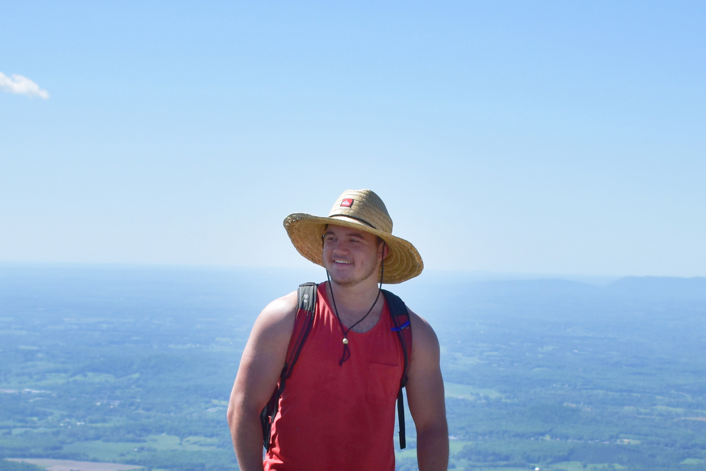 Rob Ulrich on Sharp Top Mountain in Spring 2017.