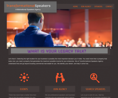 TRANSFORMATIONAL SPEAKERS AGENCY - (Not an active site)