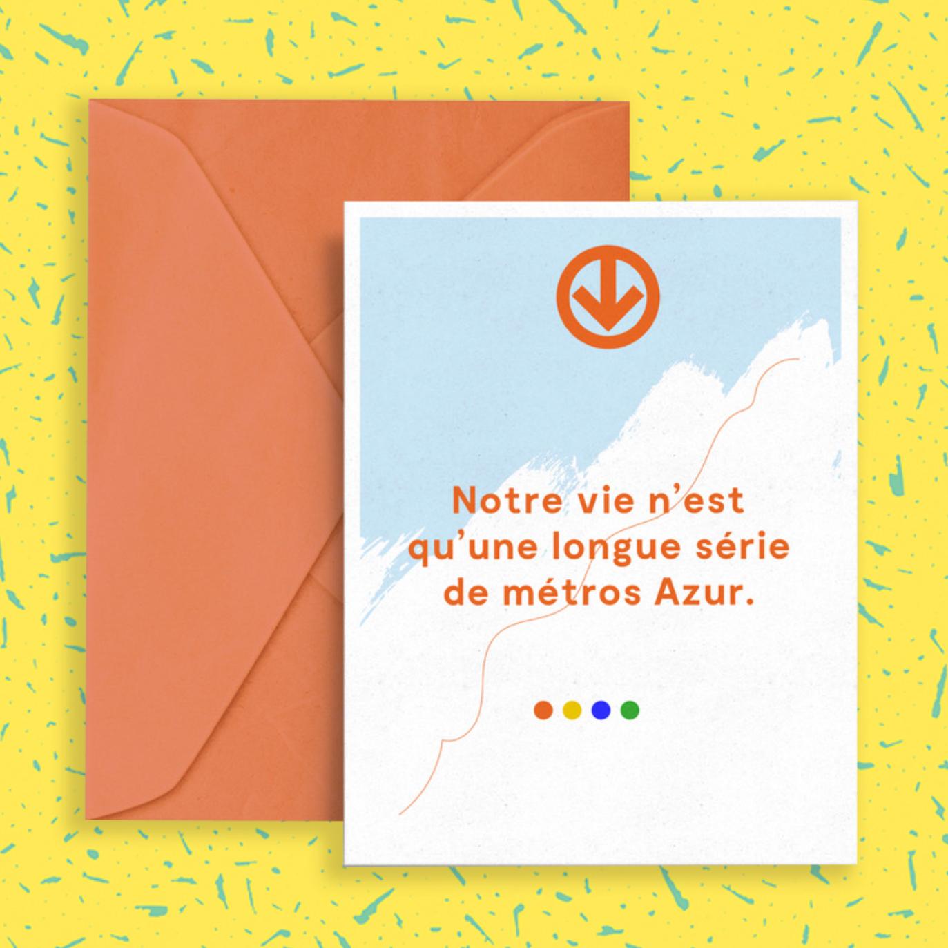 Les Sans-dessins   Notre vie n'est qu'une longue série de métros Azur