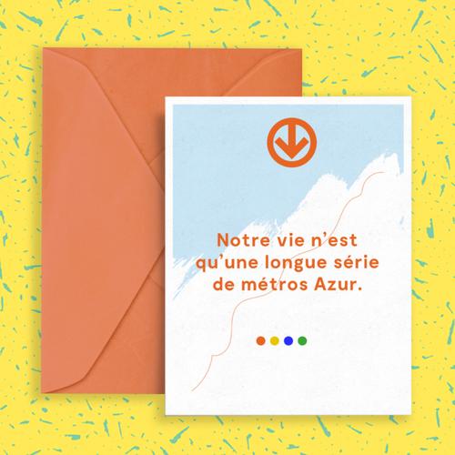 Les Sans-dessins   Notre vie n'est qu'une longue série de métros Azur.