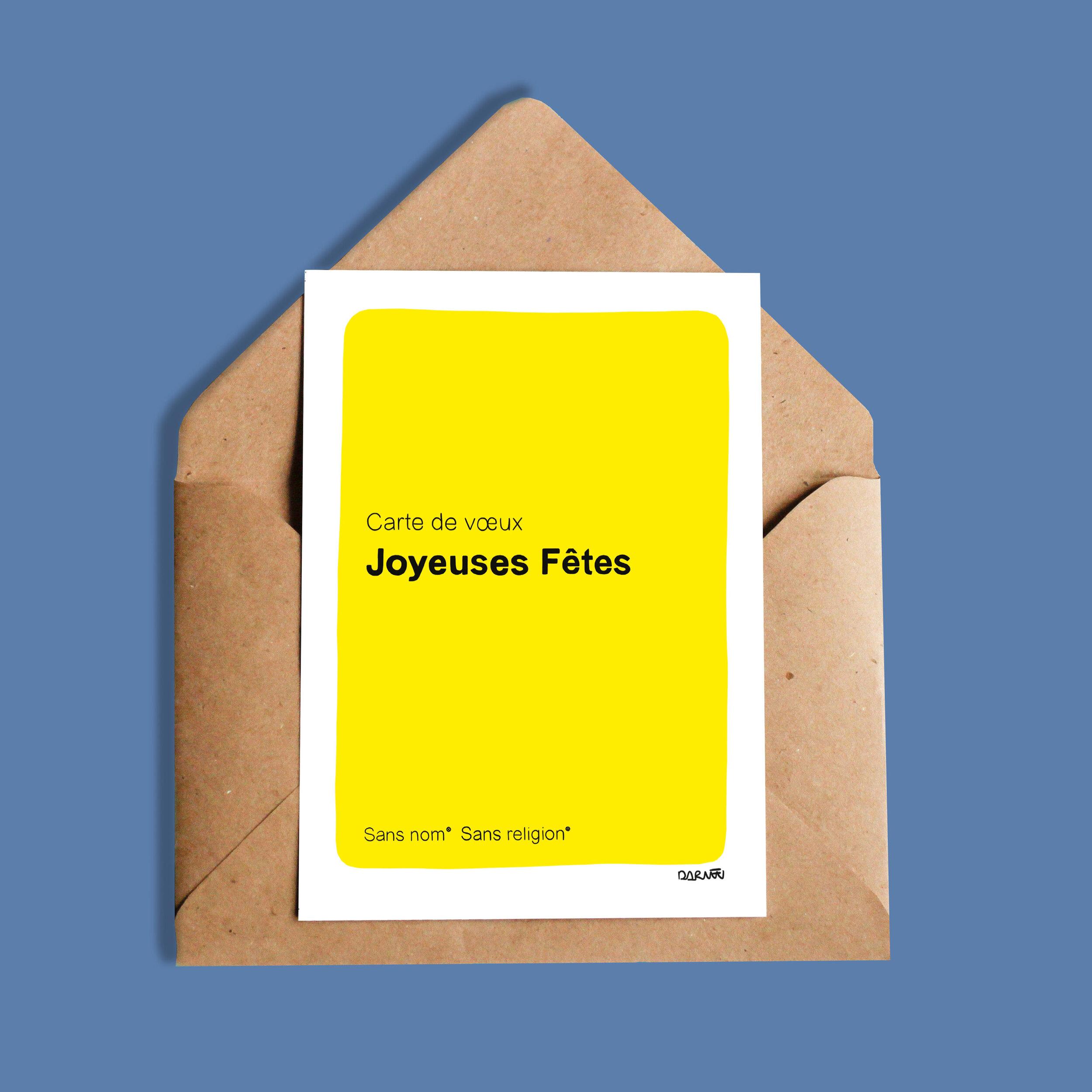 Darvee   Carte de voeux - Joyeuses Fêtes - Sans nom - Sans religion