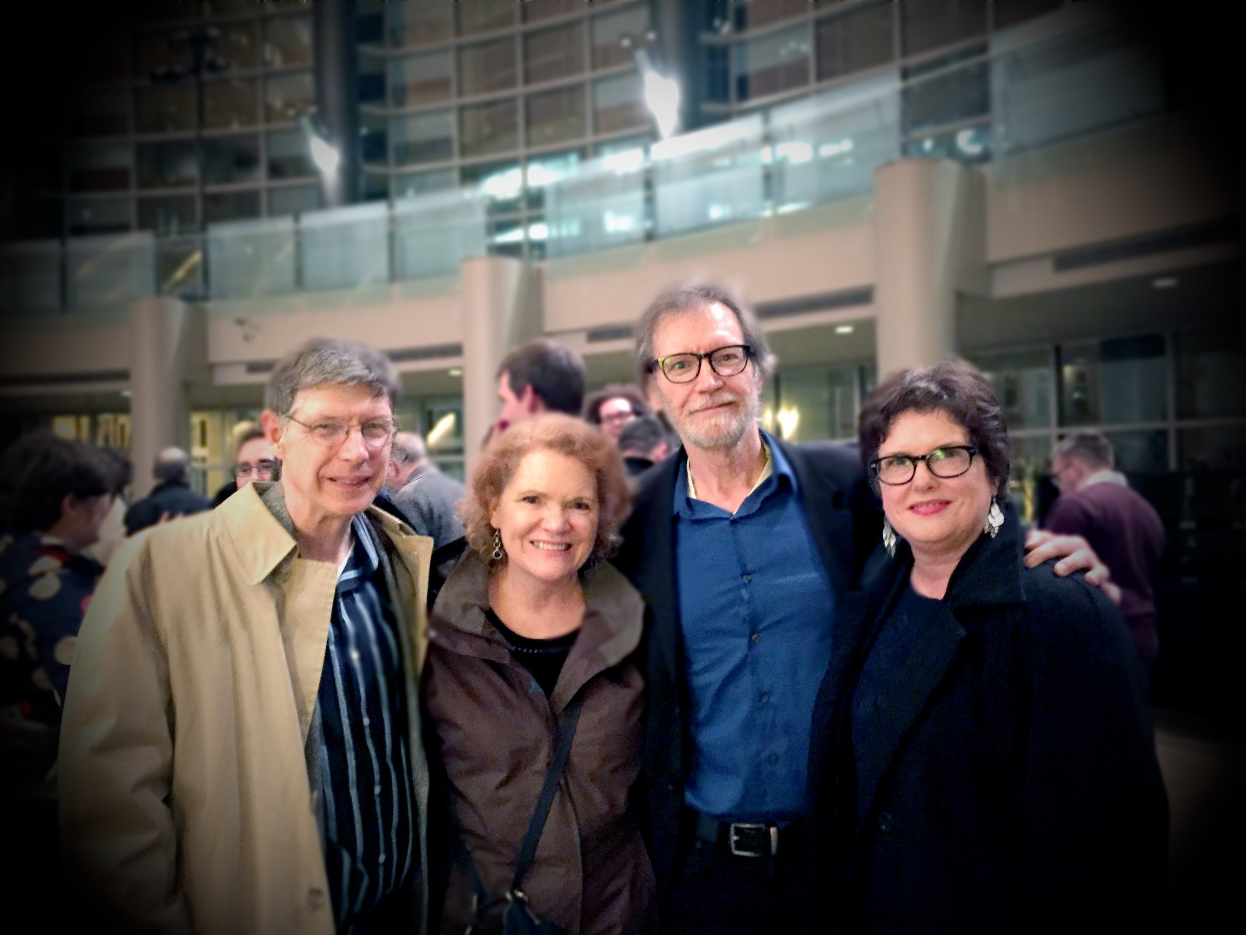 (Old friends, at Benaroya Hall for the Seattle Symphony, 2016. Ignore my eyes)