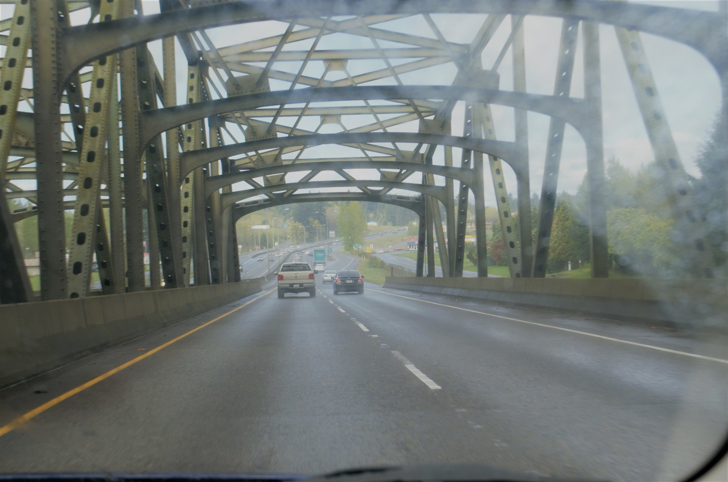 Crossing the Columbia into Washington from Oregon.