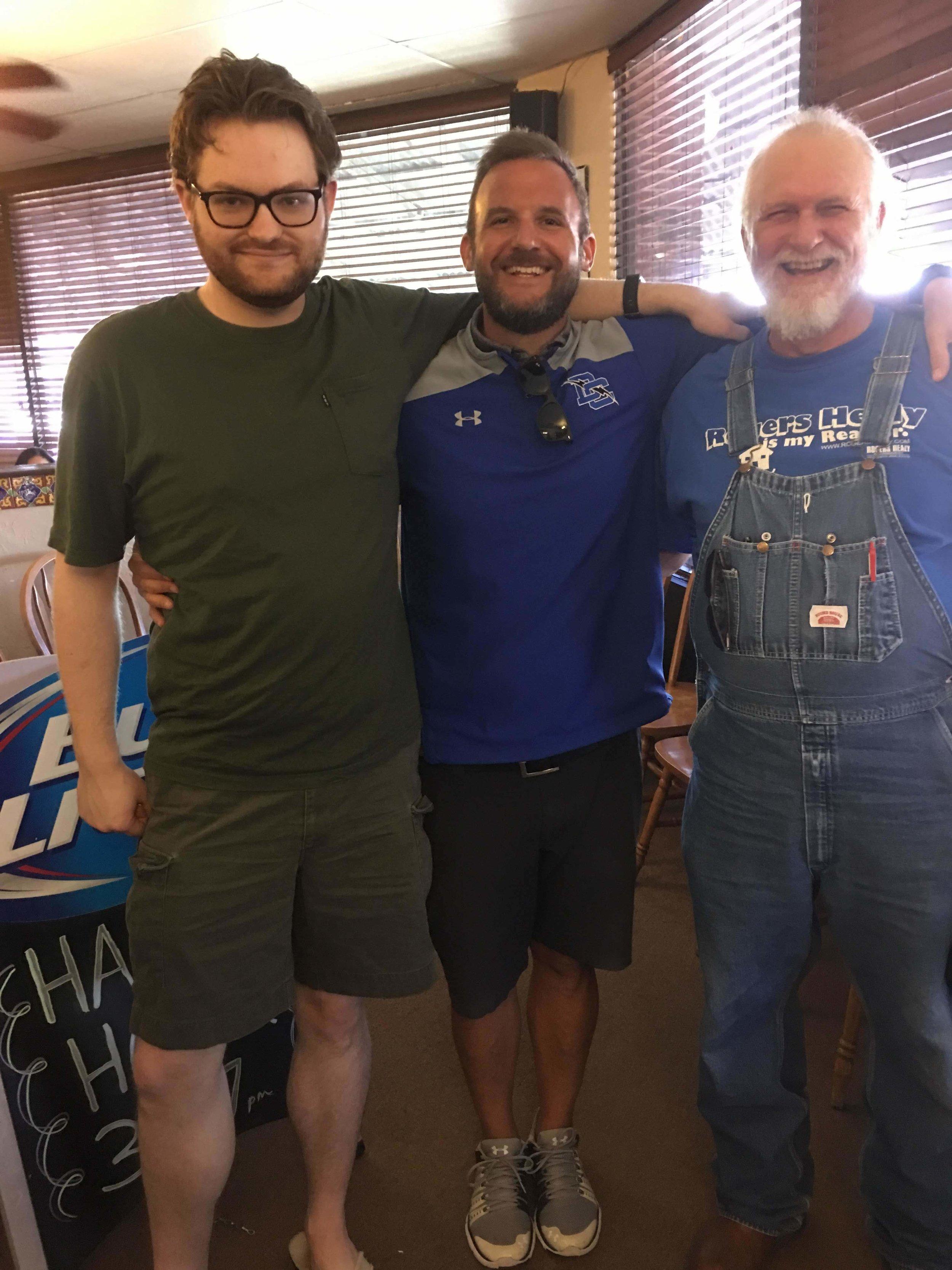 Texas men with Seattle flavor. John, cousin Trey, uncle Jim.