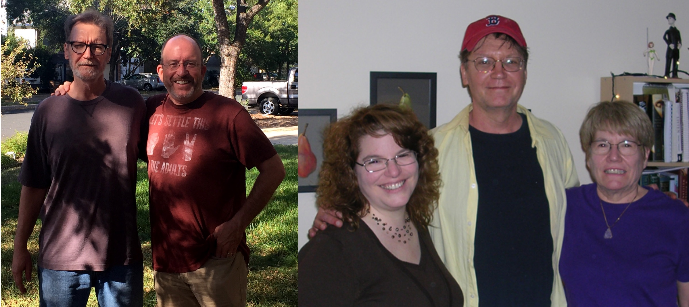 Gordon and I in Austin a couple of years ago (left) and Liz/Lizardmom and me in Boston (2008).