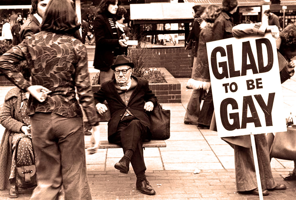 From a gay march/protest in London, November 1969