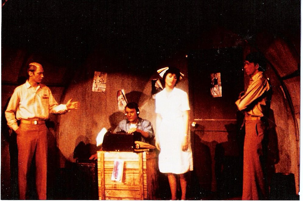 South Pacific, 1977. I'm the bald guy.
