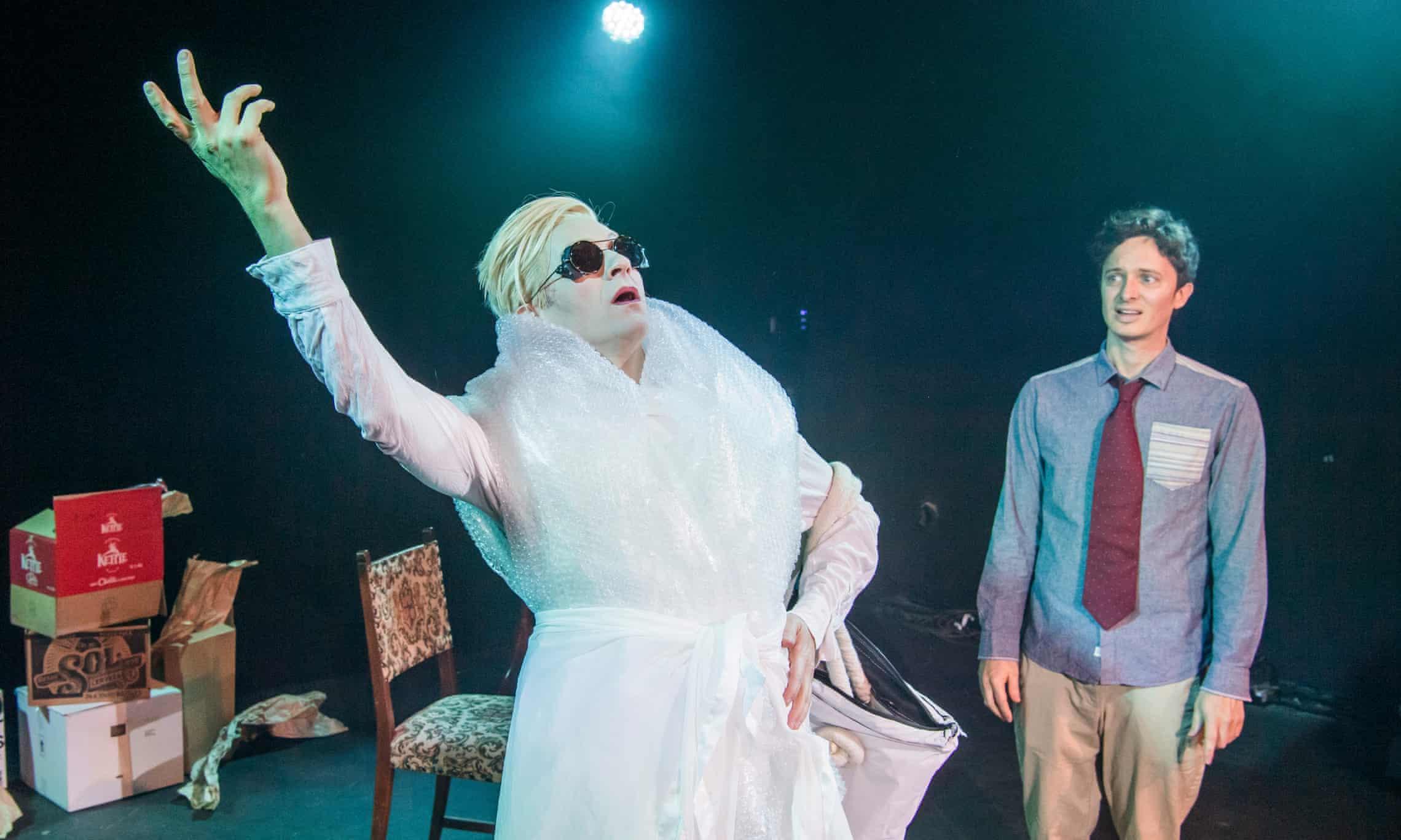 Tom Lenk and Byron Lane in Lane's play  Tilda Swinton Answers an Ad on Craigslist
