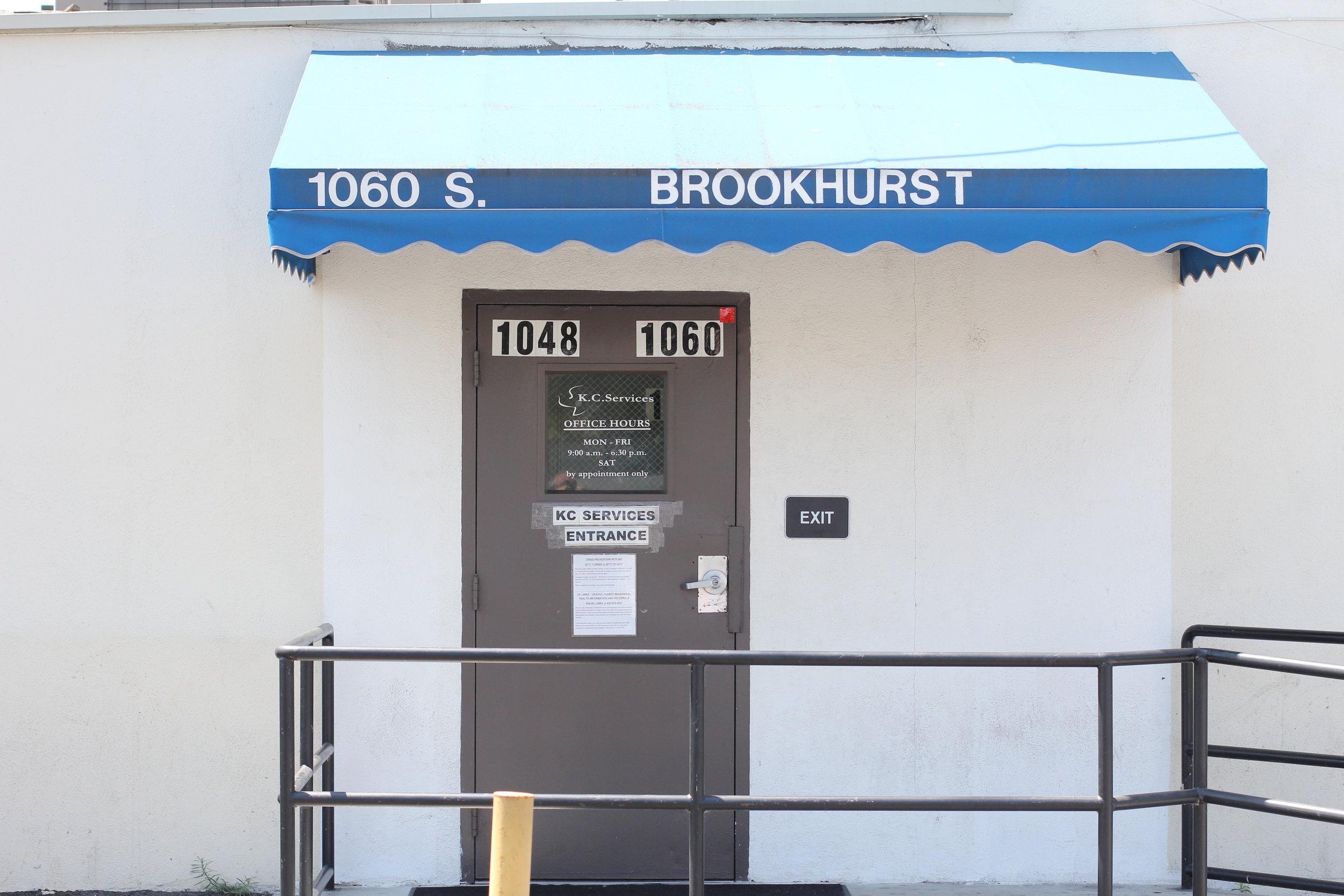 Fullerton Office  1060 S. Brookhurst Rd. Fullerton, CA 92833 Phone: 714.449.1339 Fax: 714.449.1289