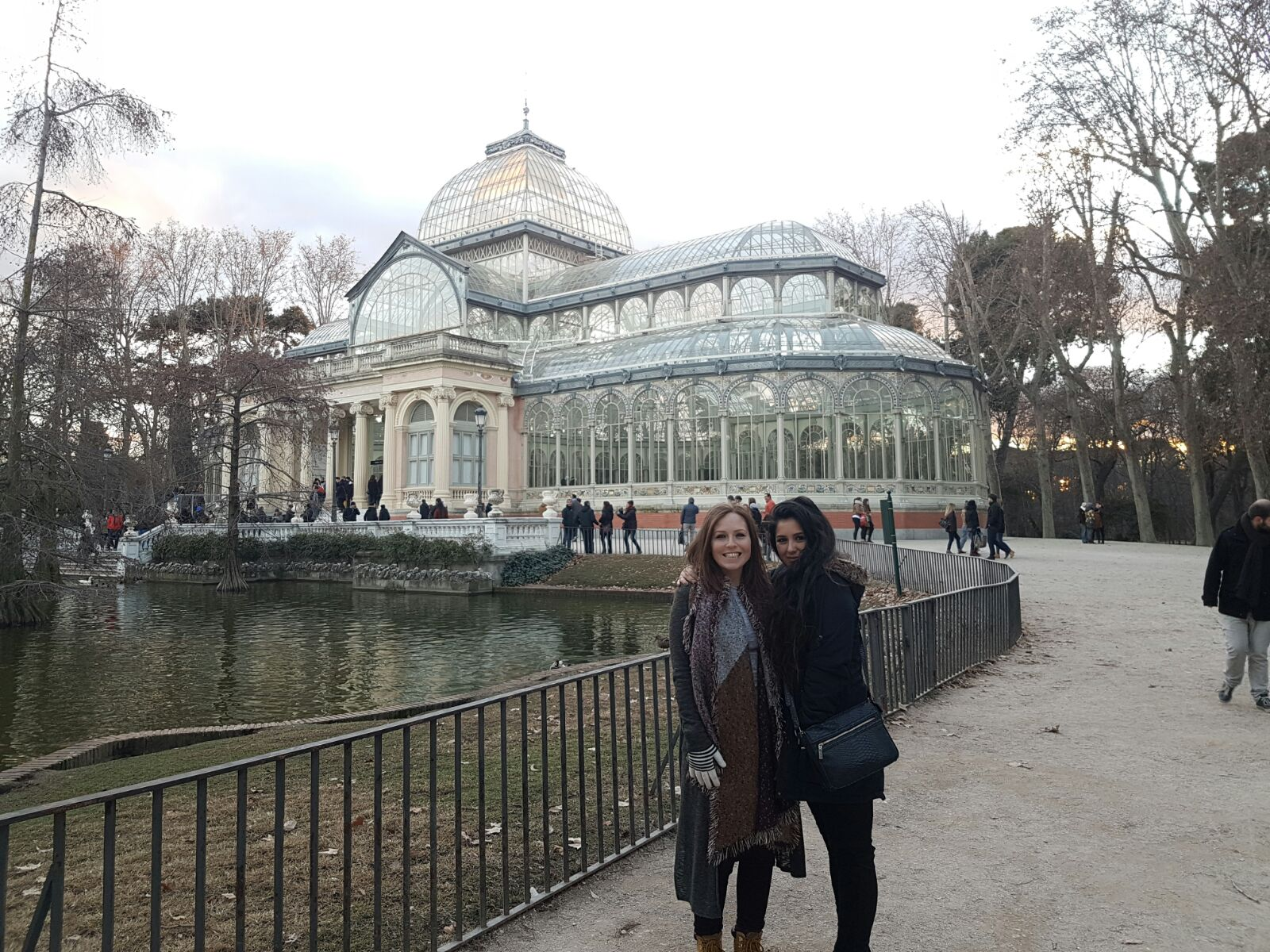 January at El Parque del Retiro in Madrid with Victor's sister