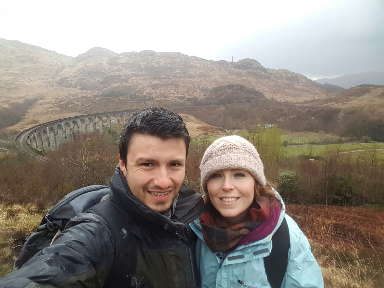 April at the Glenfinnan Viaduct, or Harry Potter bridge, in Scotland