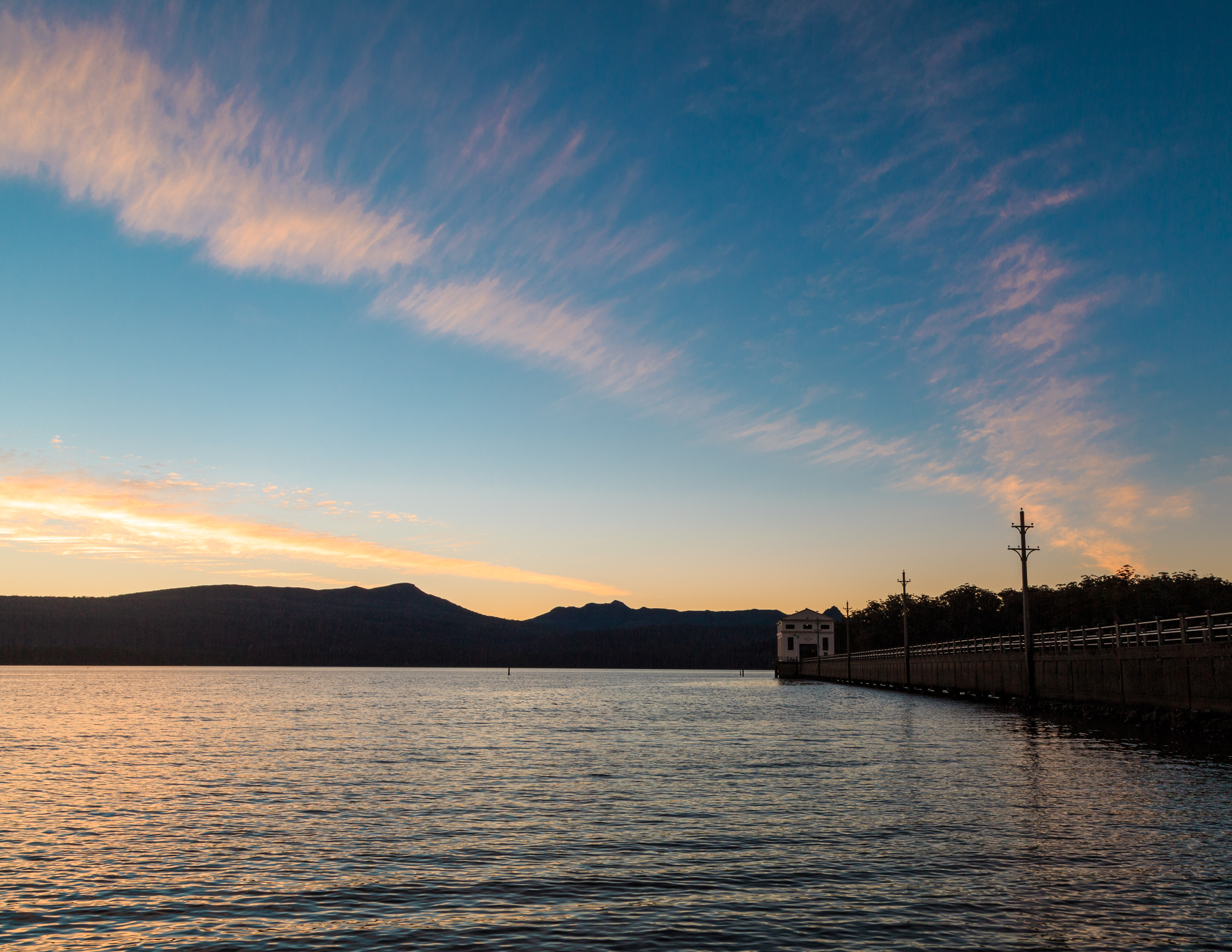 Sunset at Lake St Clair