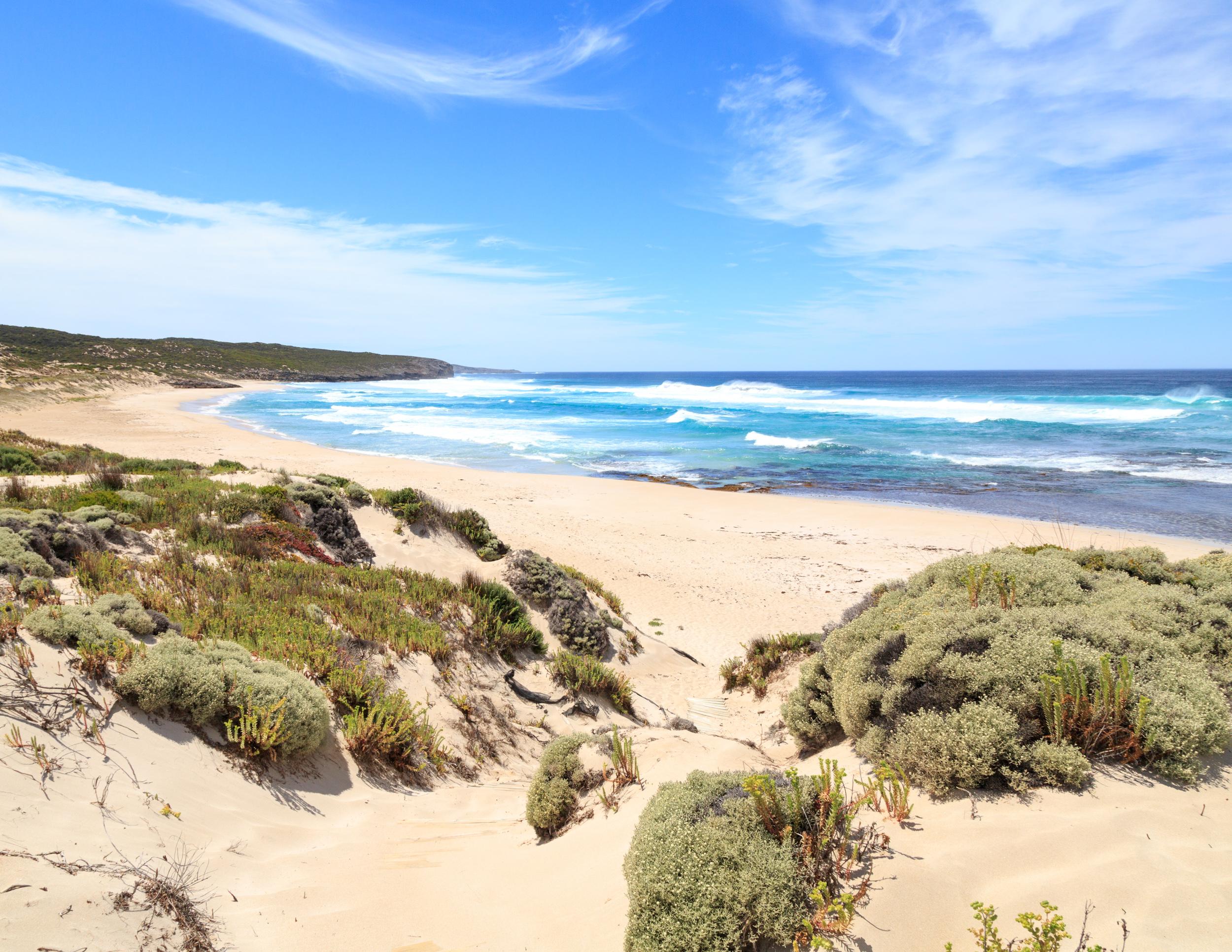 The view of Hanson Bay Beach