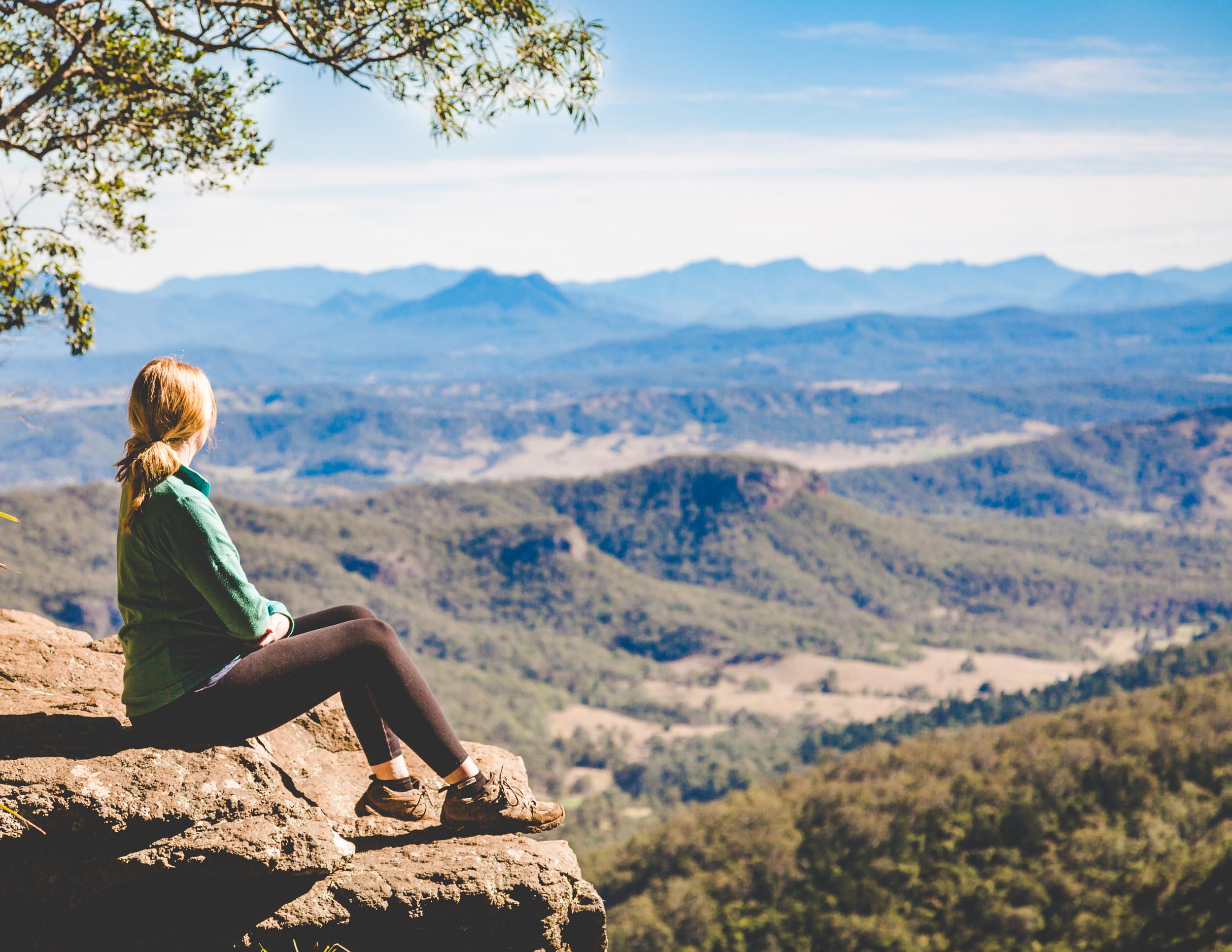 The view of Moran Falls