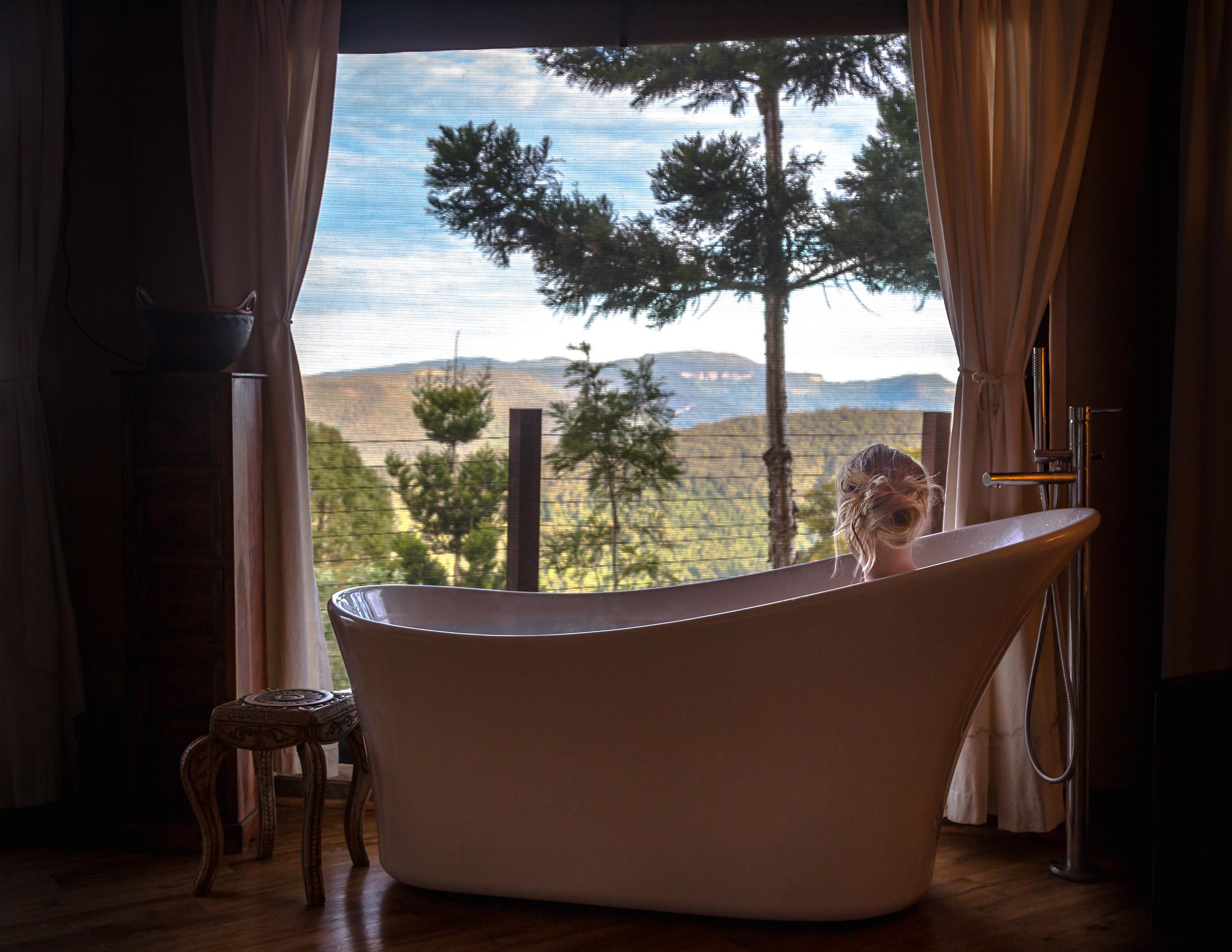 The bath at Cloud Safari