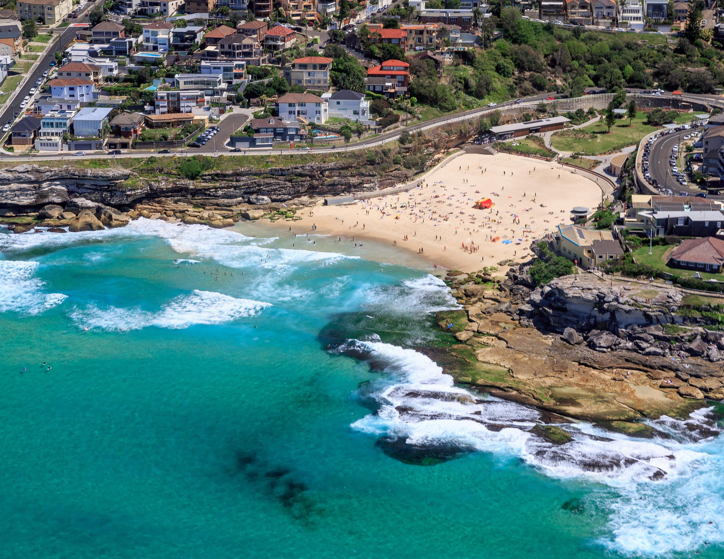 Tamarama Beach from the air