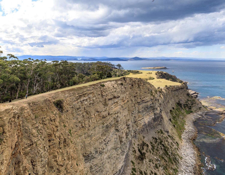 The cliffs at Maria Island