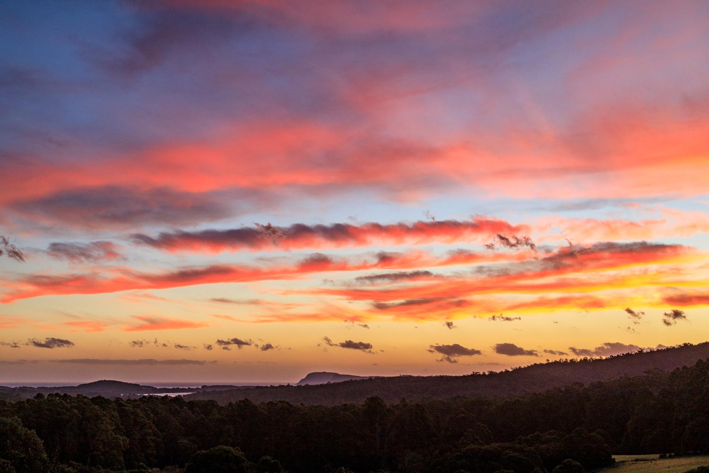Sunset at Bruny Island, Tasmania