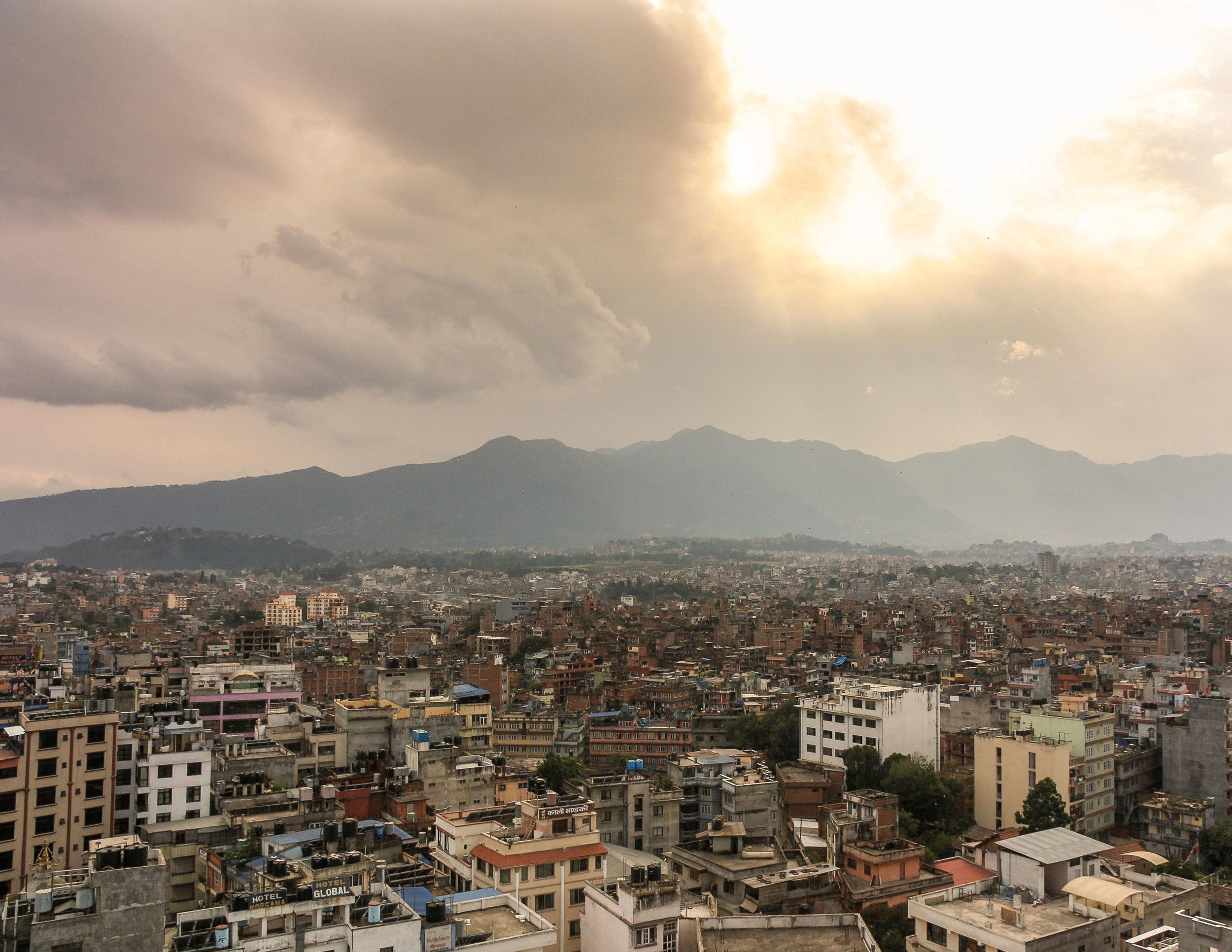 Epic skies over Kathmandu, Nepal