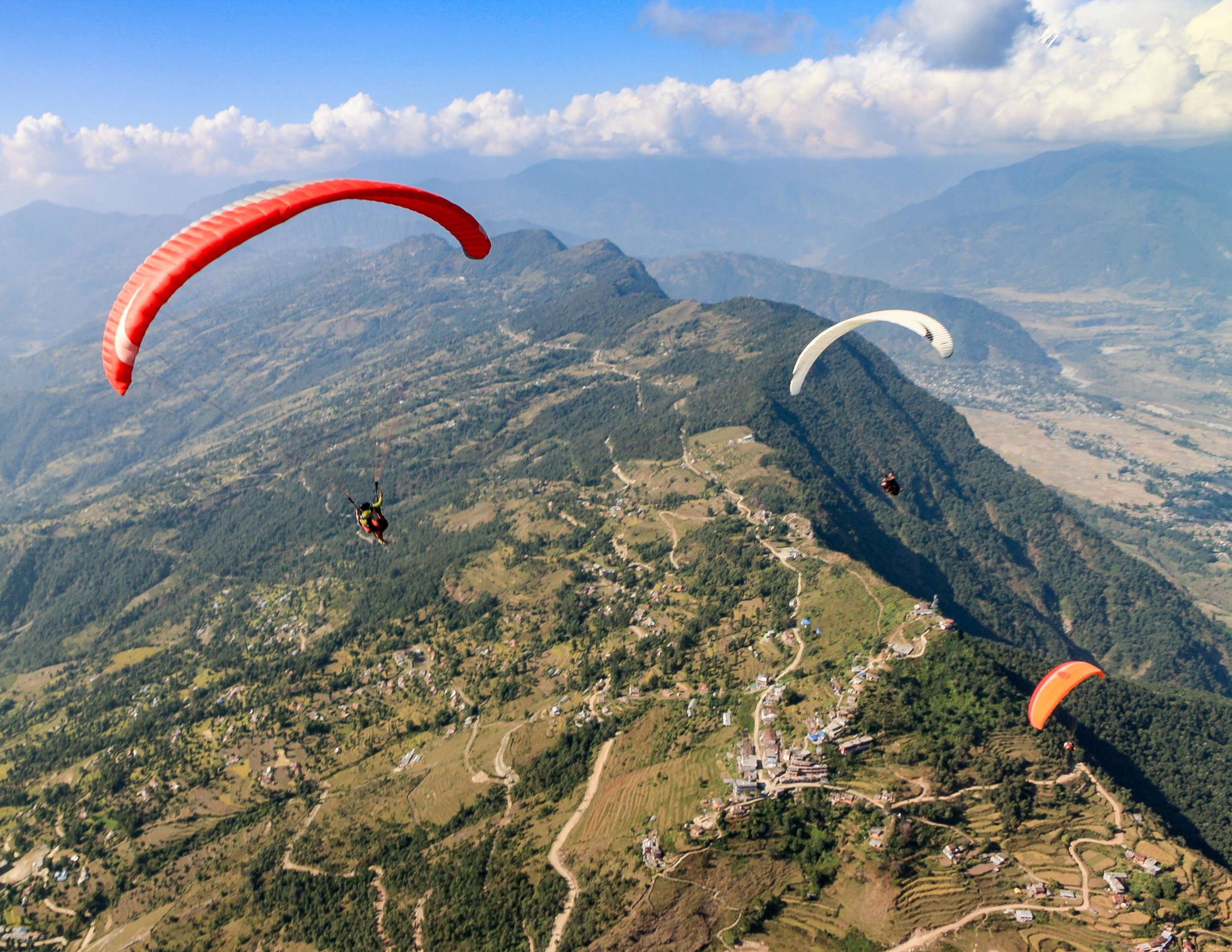 Best things to do in Nepal: para-sailing in Nepal