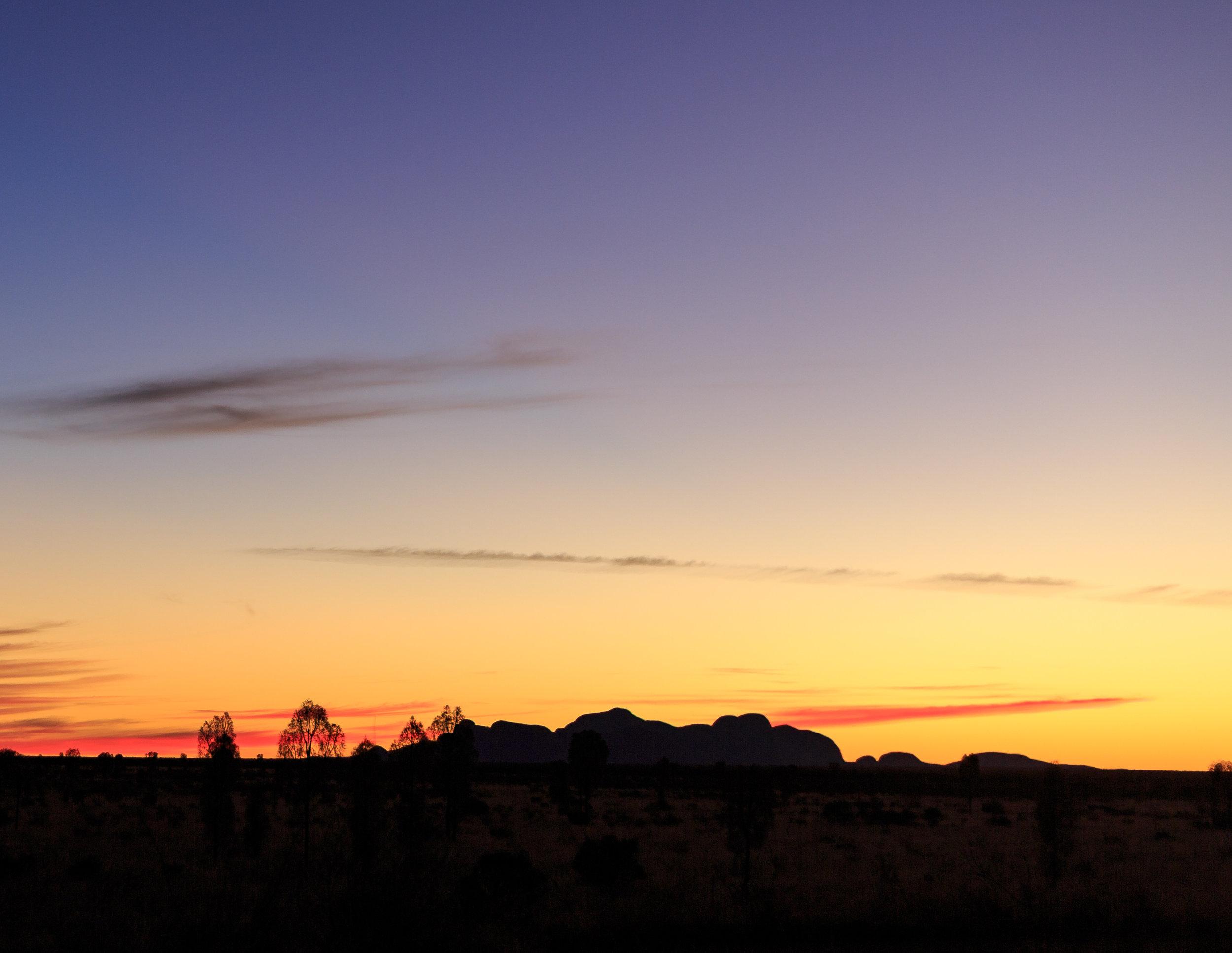 Kata Tjuta at sunset