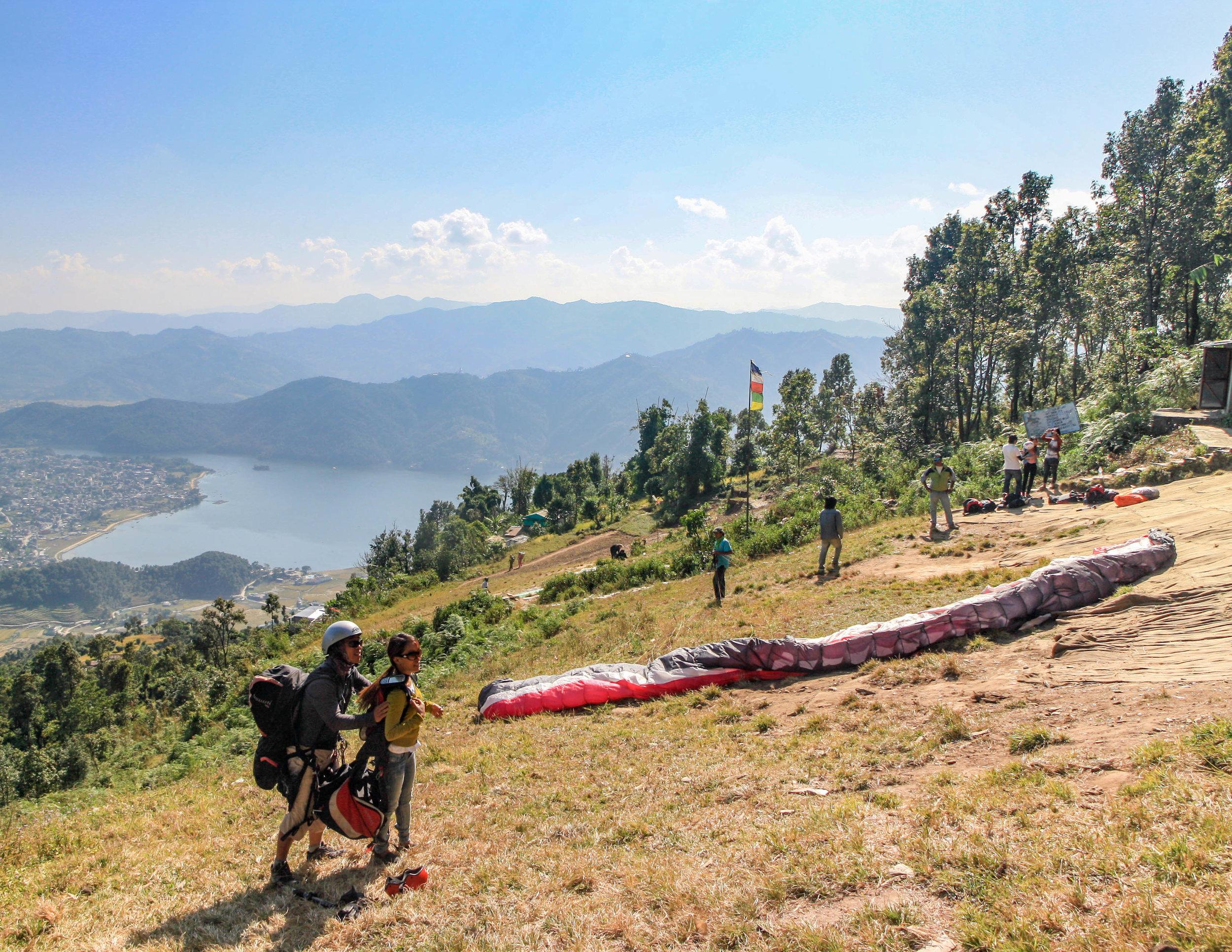 Paragliding in Pokhara, Nepal