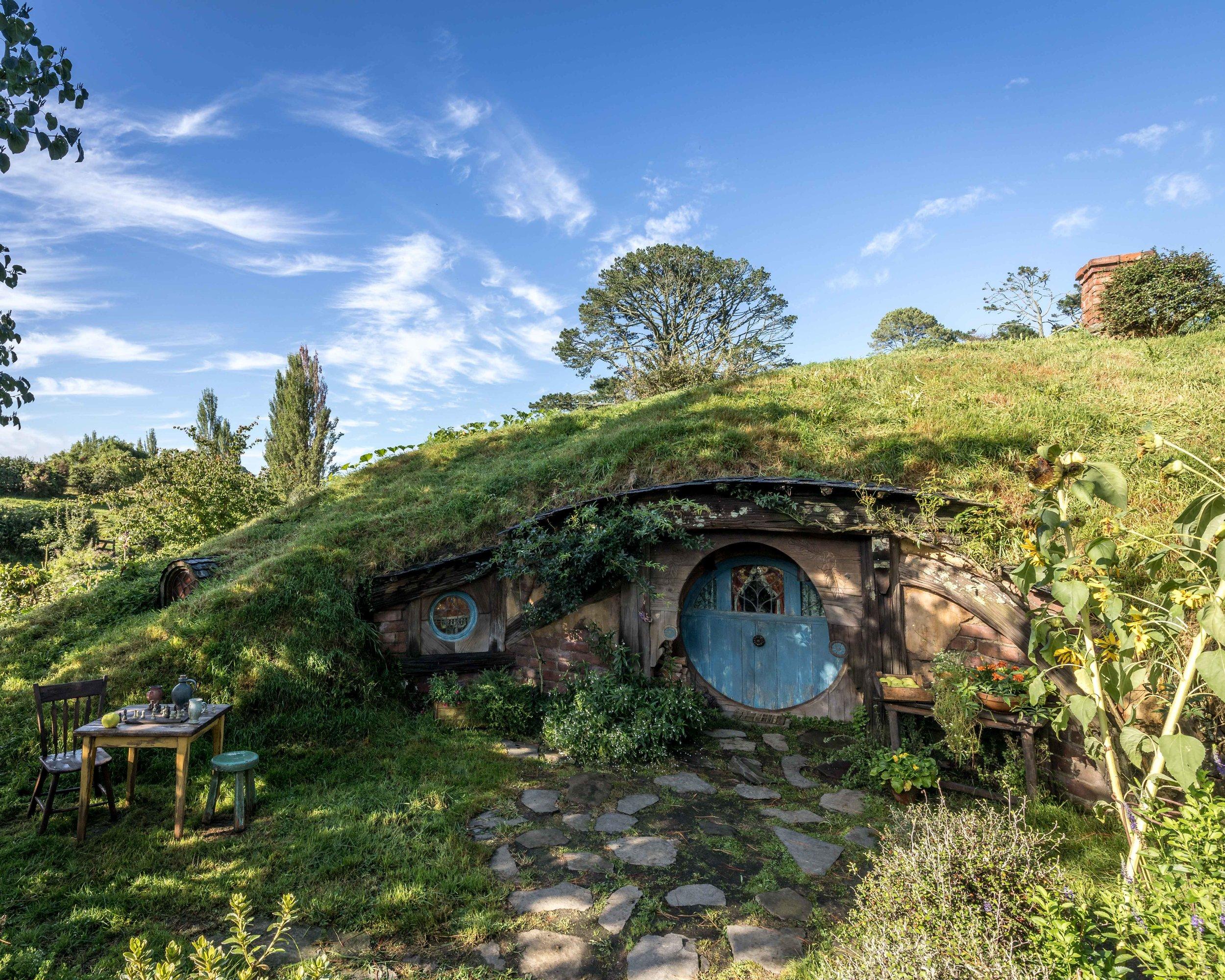 Hobbit Hole in Hobbiton, New Zealand