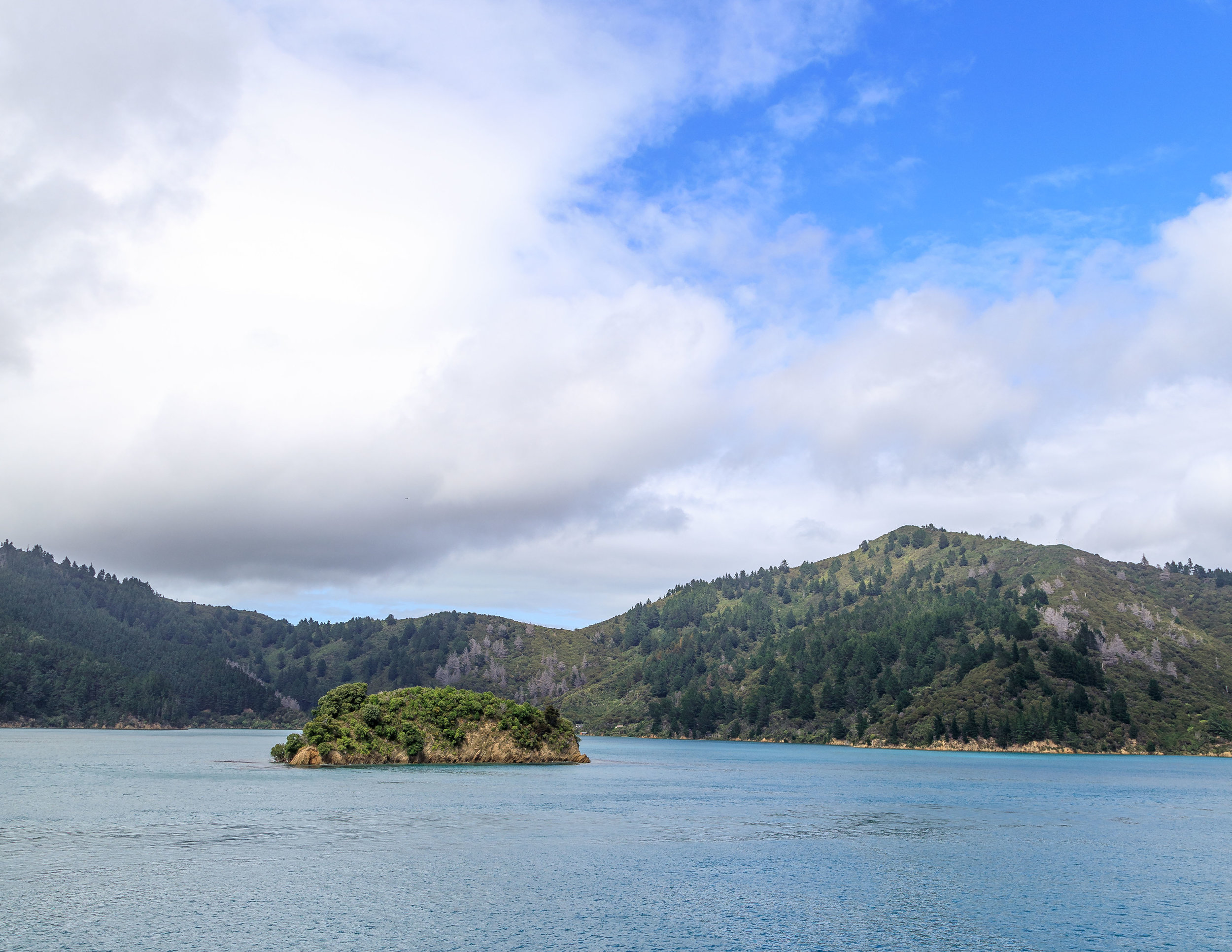 The views of Queen Charlotte Sound from the Interislander Ferry between Wellington and Picton