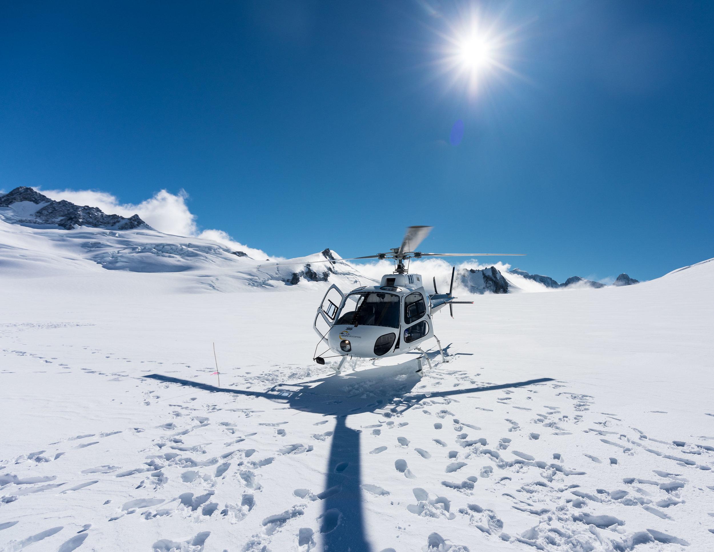 Helicopter on Franz Josef Glacier, New Zealand