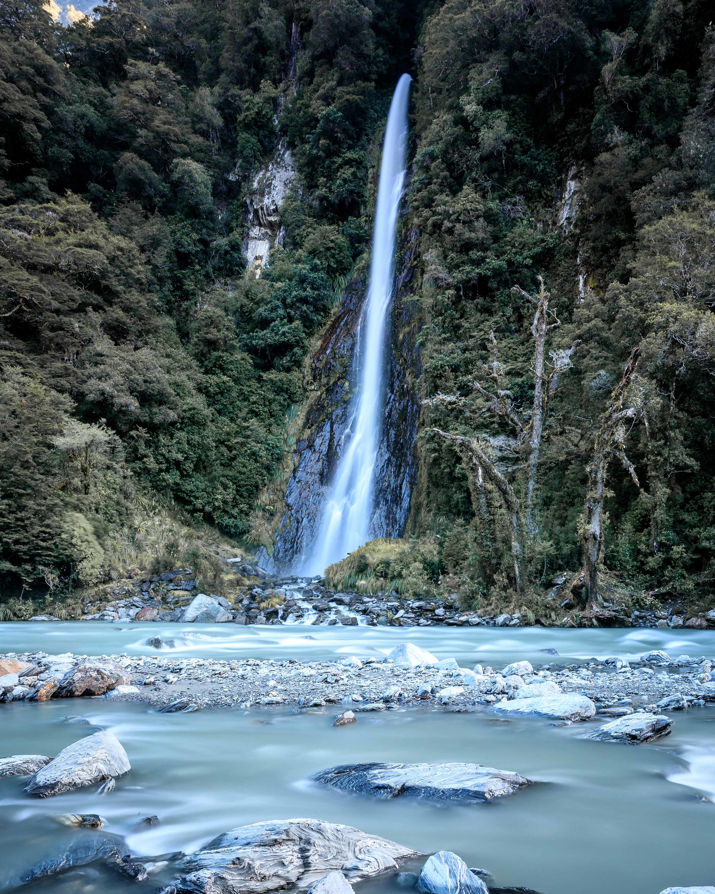 Thunder Creek Falls. Put this anywhere else in the world and it would be heaving with people, in NZ it's just another road side stop.