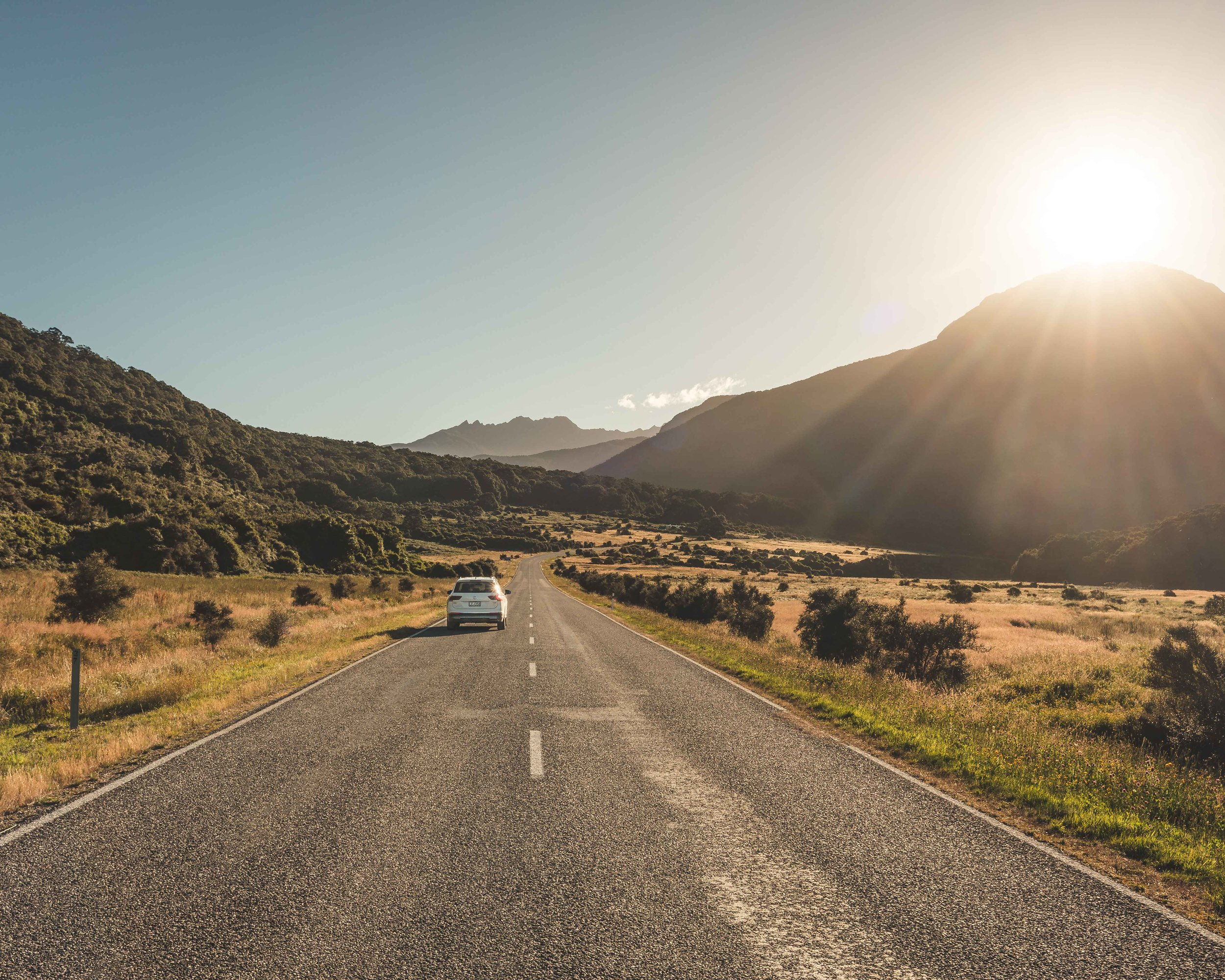 The road to Makarora is another beauty.